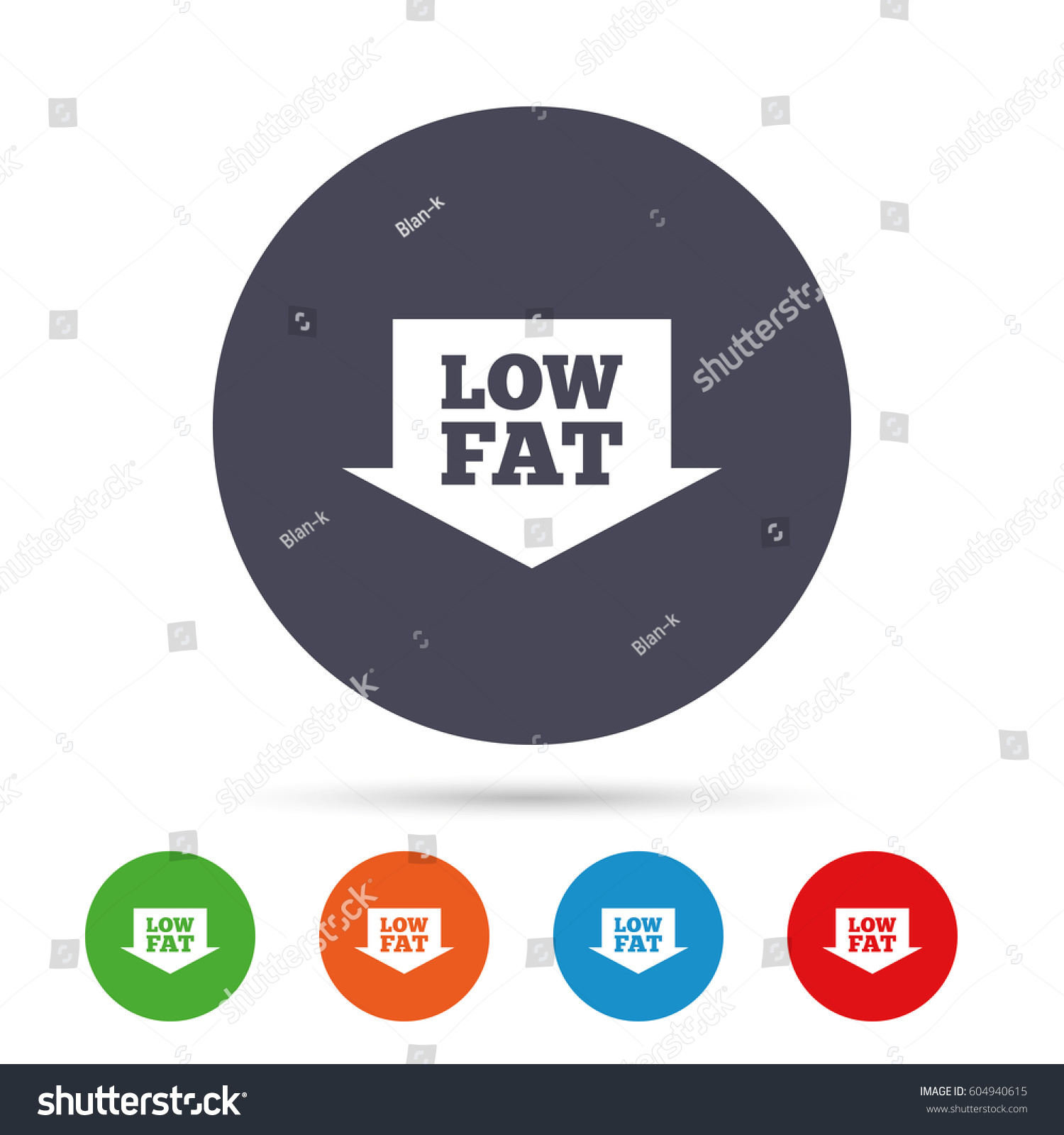 Low Fat Sign Icon Salt Sugar Stock Vector Royalty Free 604940615