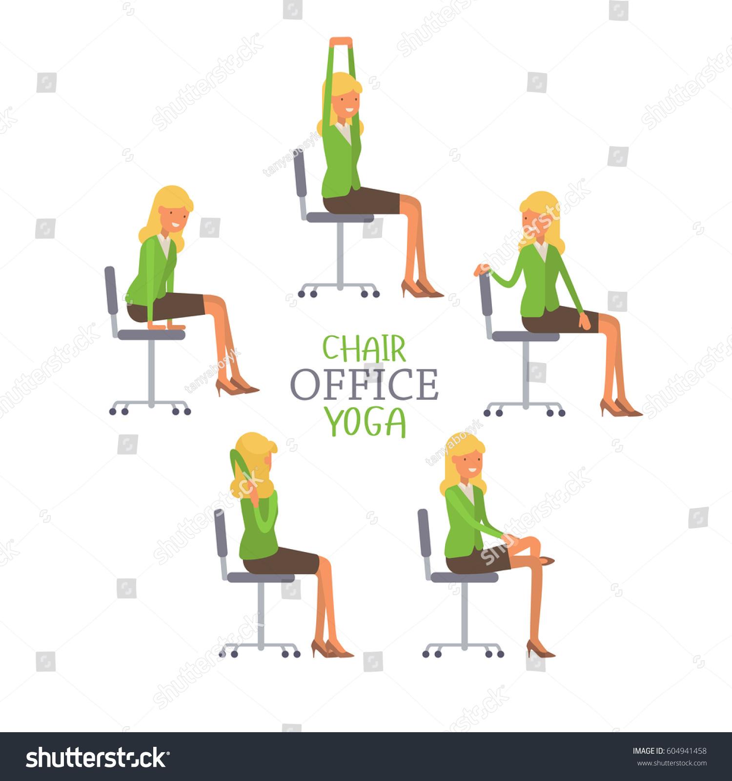 Vector Illustration fice Chair Yoga Business Stock Vector