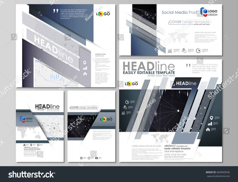 social media posts set business templates stock vector 604995056 shutterstock. Black Bedroom Furniture Sets. Home Design Ideas