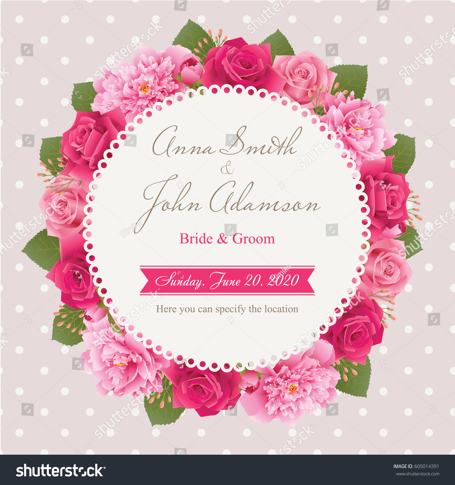 Wedding Invitation Card Save Date Card Stock Vector 605014391 ...