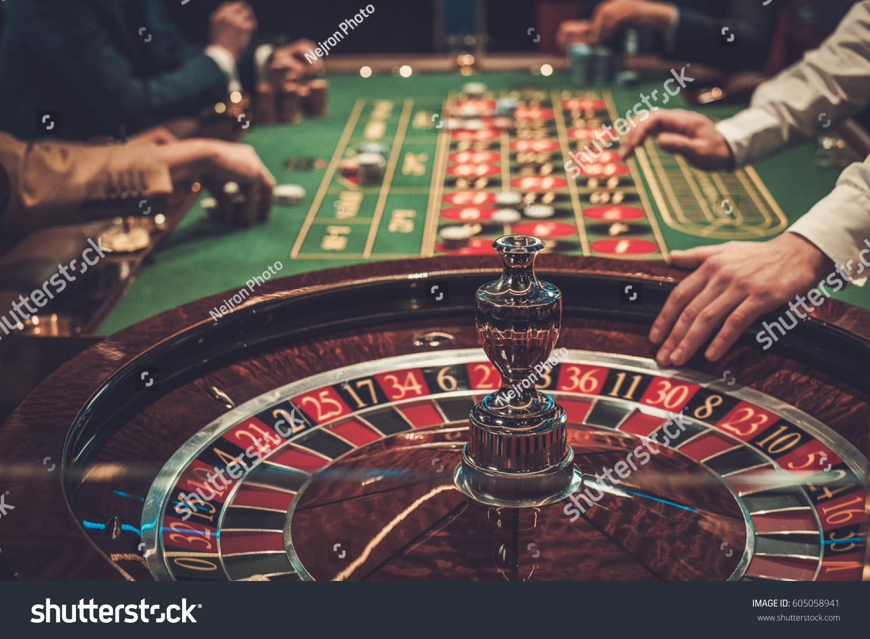 Gambling table in luxury casino. #605058941