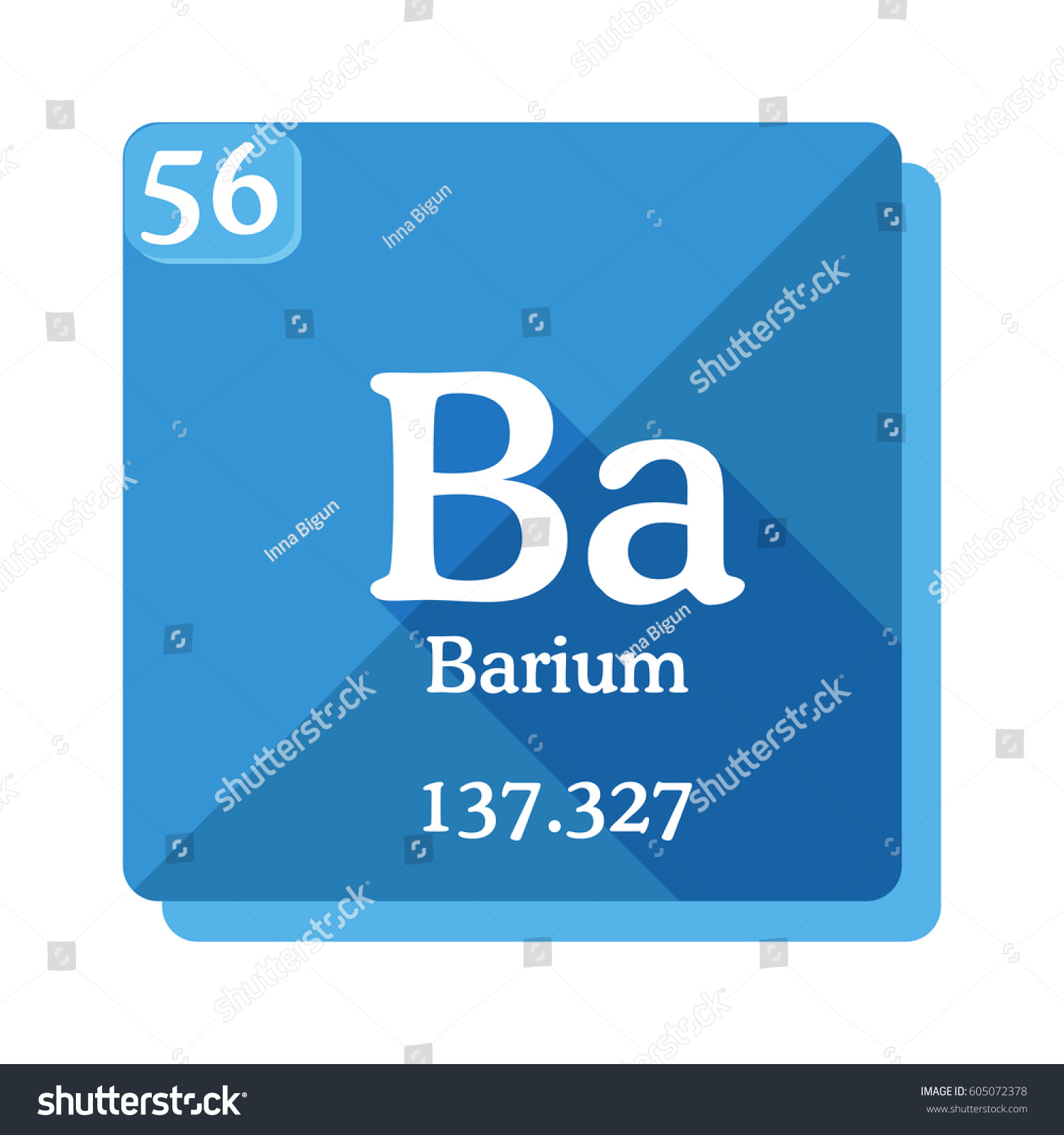 Barium ba element periodic table vector stock vector 605072378 barium ba element of the periodic table vector illustration in flat style gamestrikefo Image collections