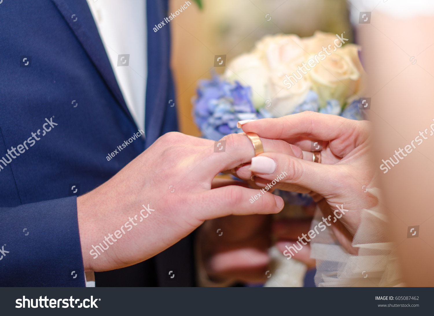 Love Marriage Wedding Ceremony Bride Dresses Stock Photo (Safe to ...