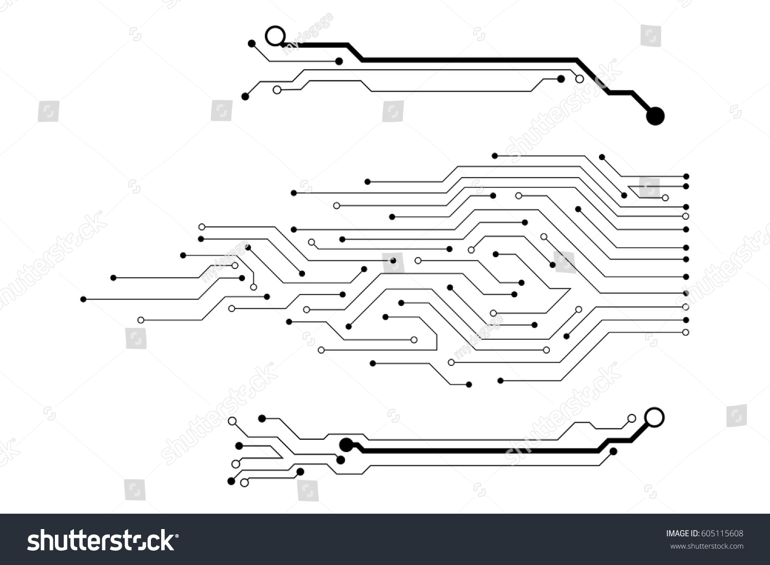 Vector circuit board pattern for background technology