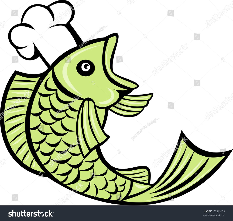 Cartoon Illustration Fish Cook Chef Baker Stock Illustration ...