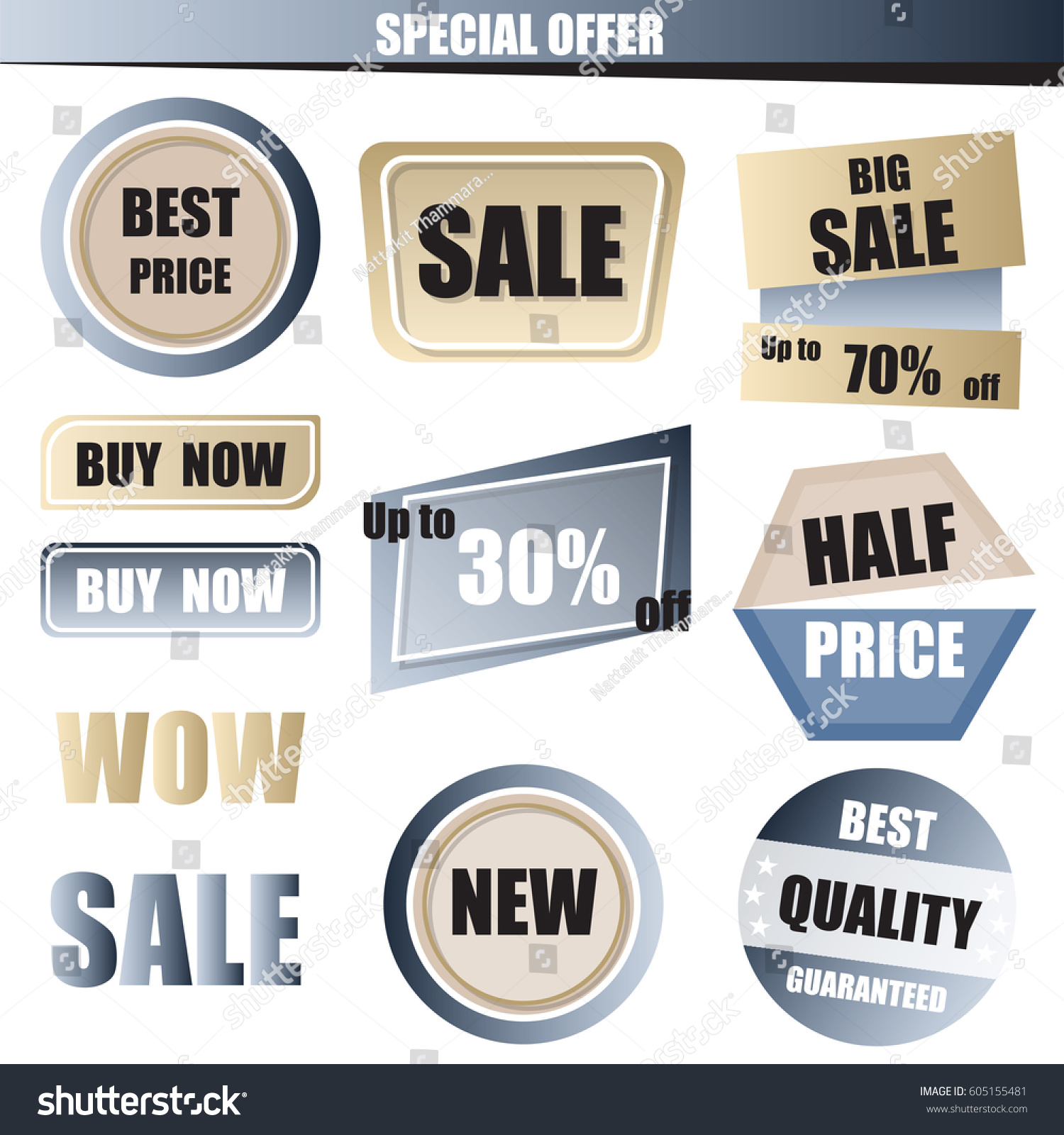 How to buy gold now - Set Of Sale Buy Now New Half Price Banner In Blue And Gold