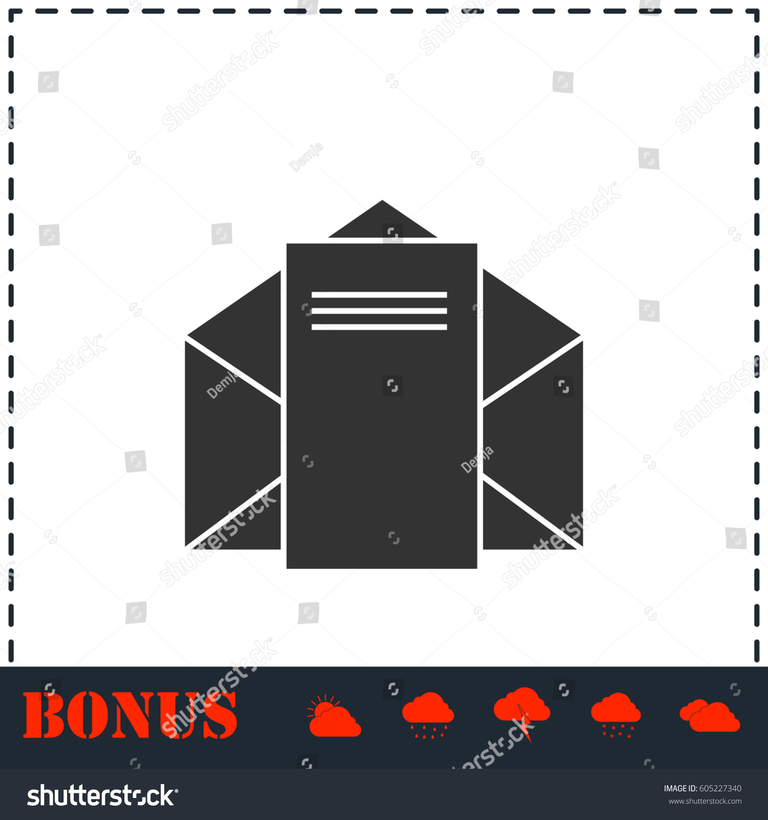 mail letter icon flat simple vector stock vector (royalty free