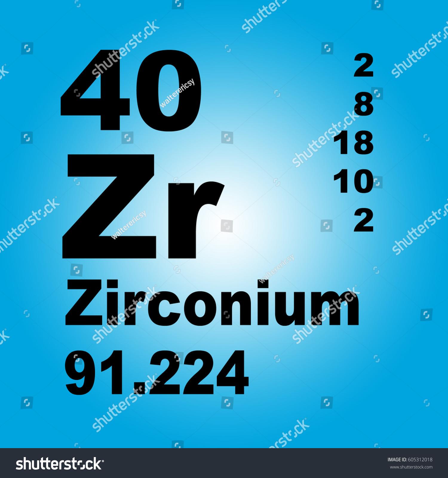 Zirconium periodic table elements stock illustration 605312018 zirconium periodic table of elements gamestrikefo Images