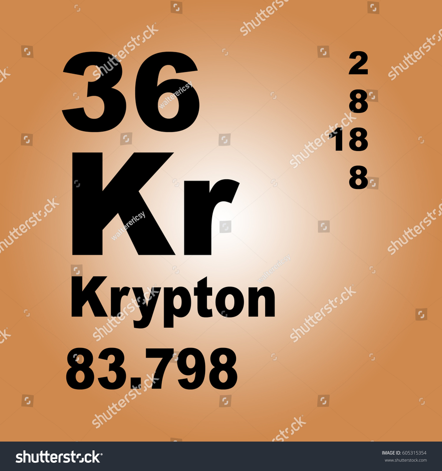 Krypton periodic table elements stock illustration 605315354 krypton periodic table of elements gamestrikefo Images