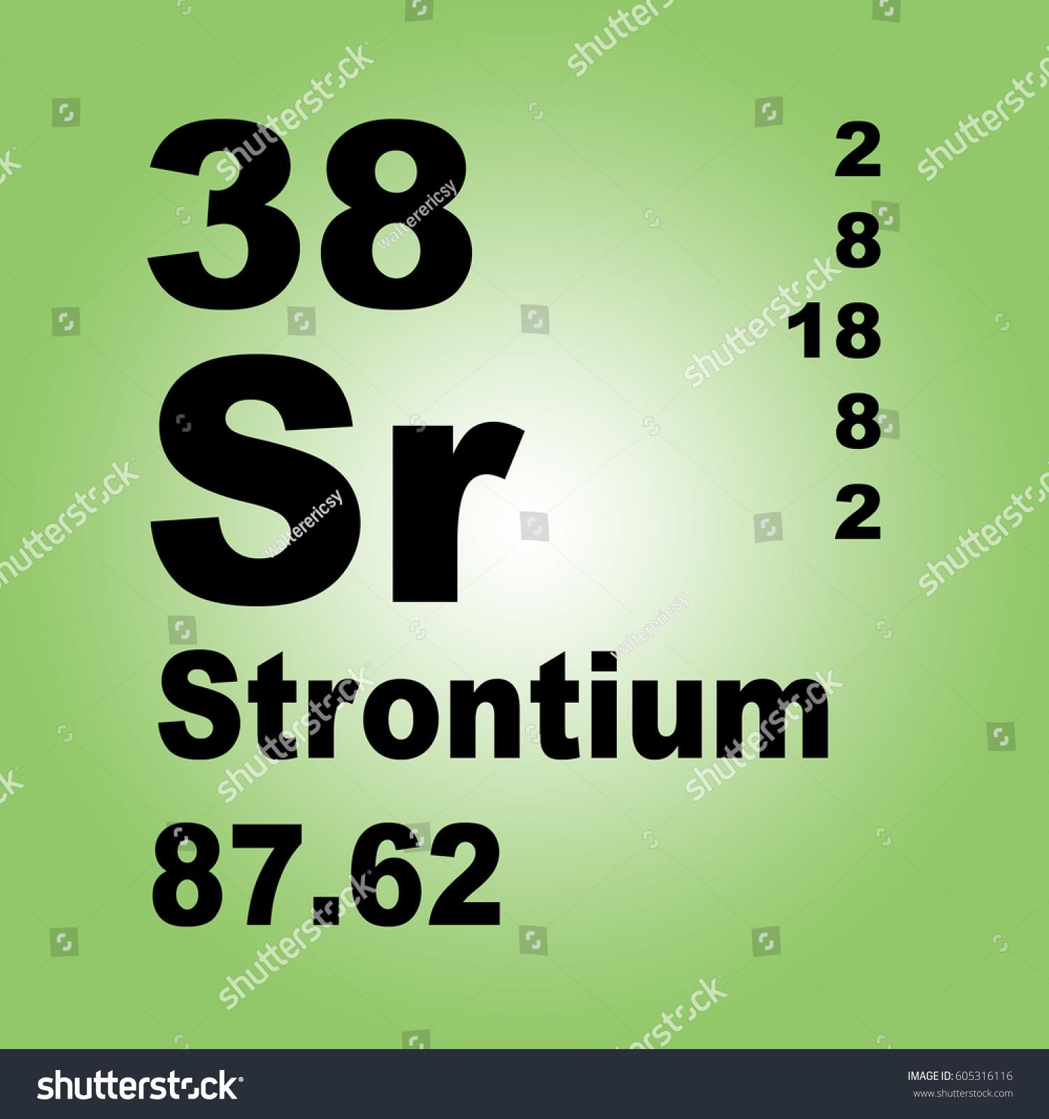 Strontium Periodic Table Of Elements Ez Canvas