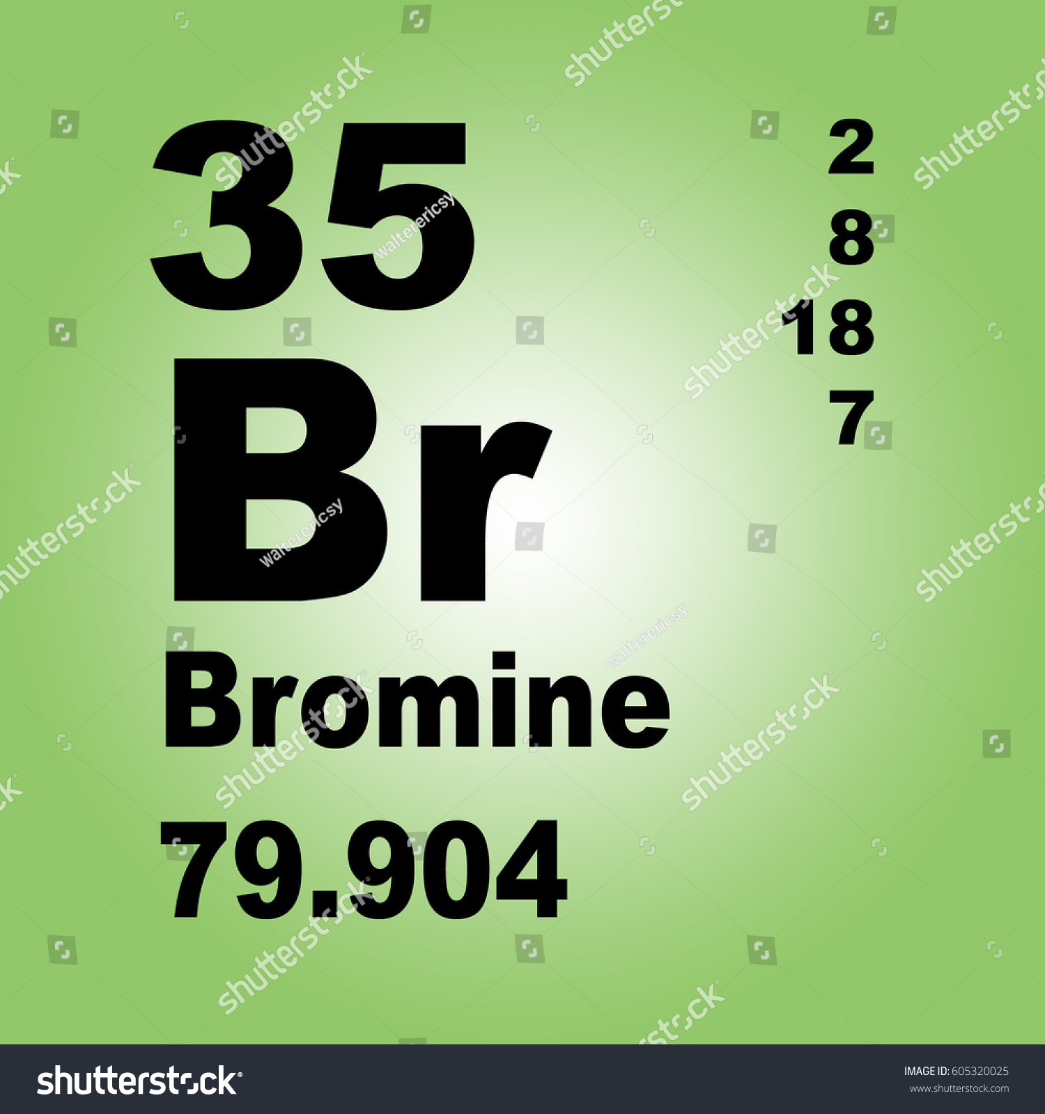 Bromine periodic table elements stock illustration 605320025 bromine periodic table of elements gamestrikefo Image collections