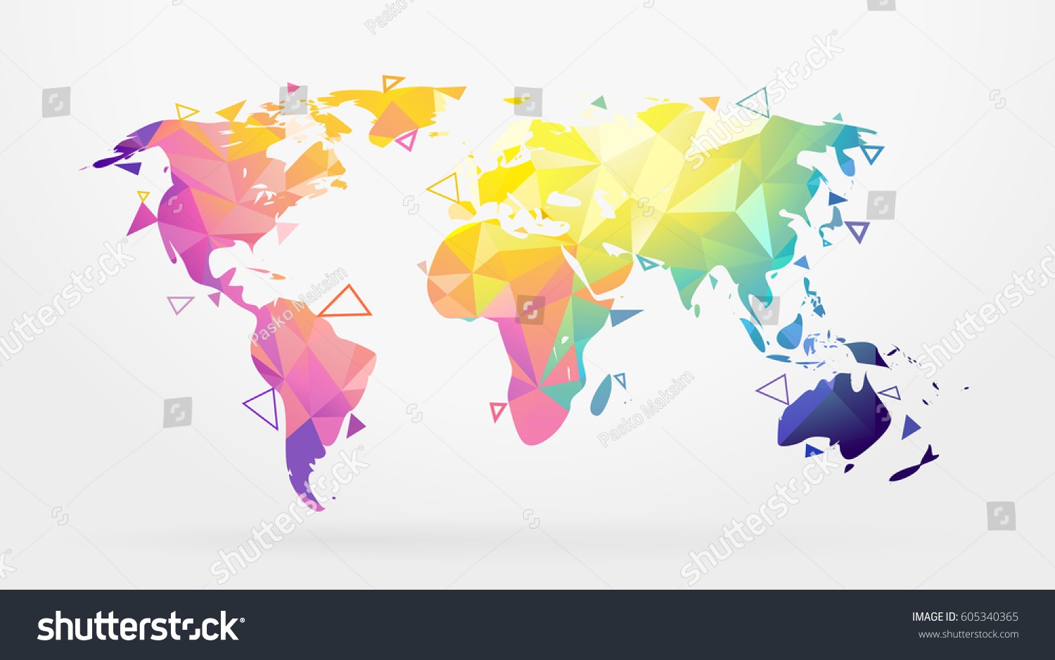 World map abstract geometric shapes low vectores en stock 605340365 world map abstract geometric shapes low poly graphic vector illustration gumiabroncs Image collections