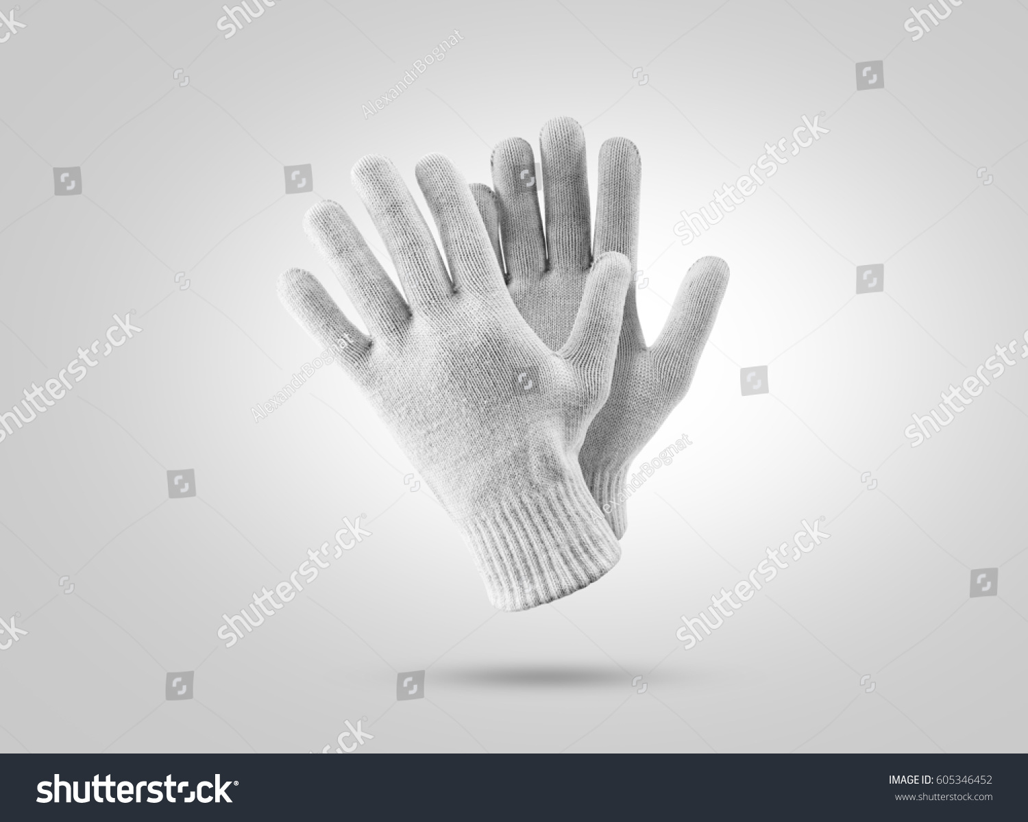 Blank Knitted Winter Gloves Mockup Clear Stock Photo (Edit Now ...