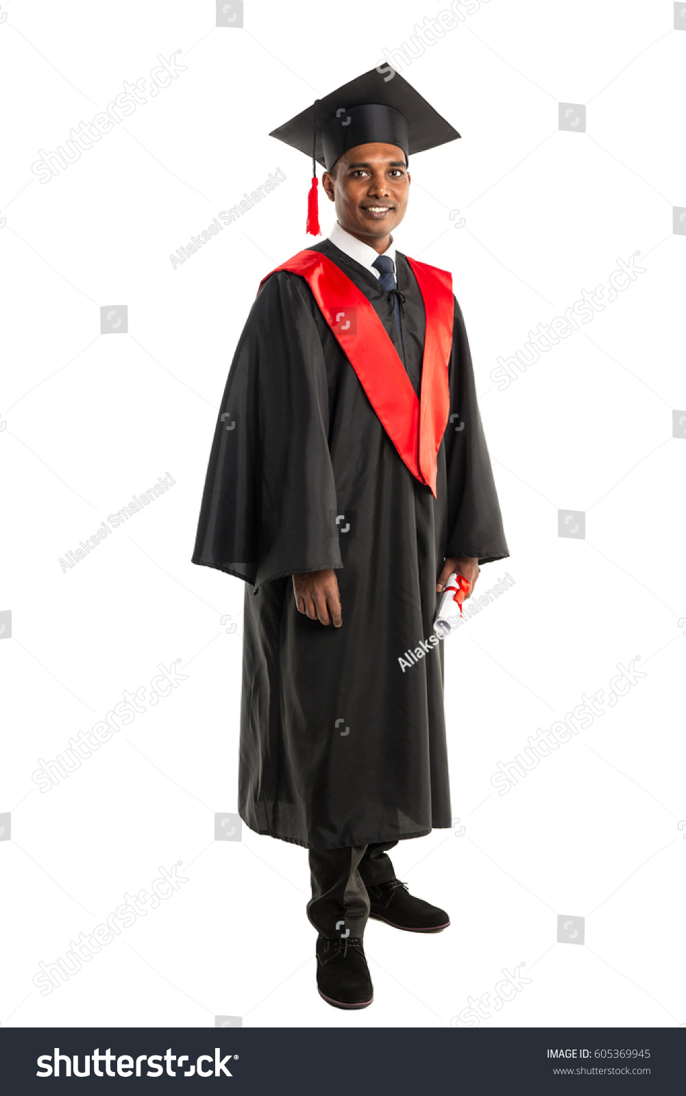 Male African American Graduate Gown Cap Stock Photo (Edit Now ...