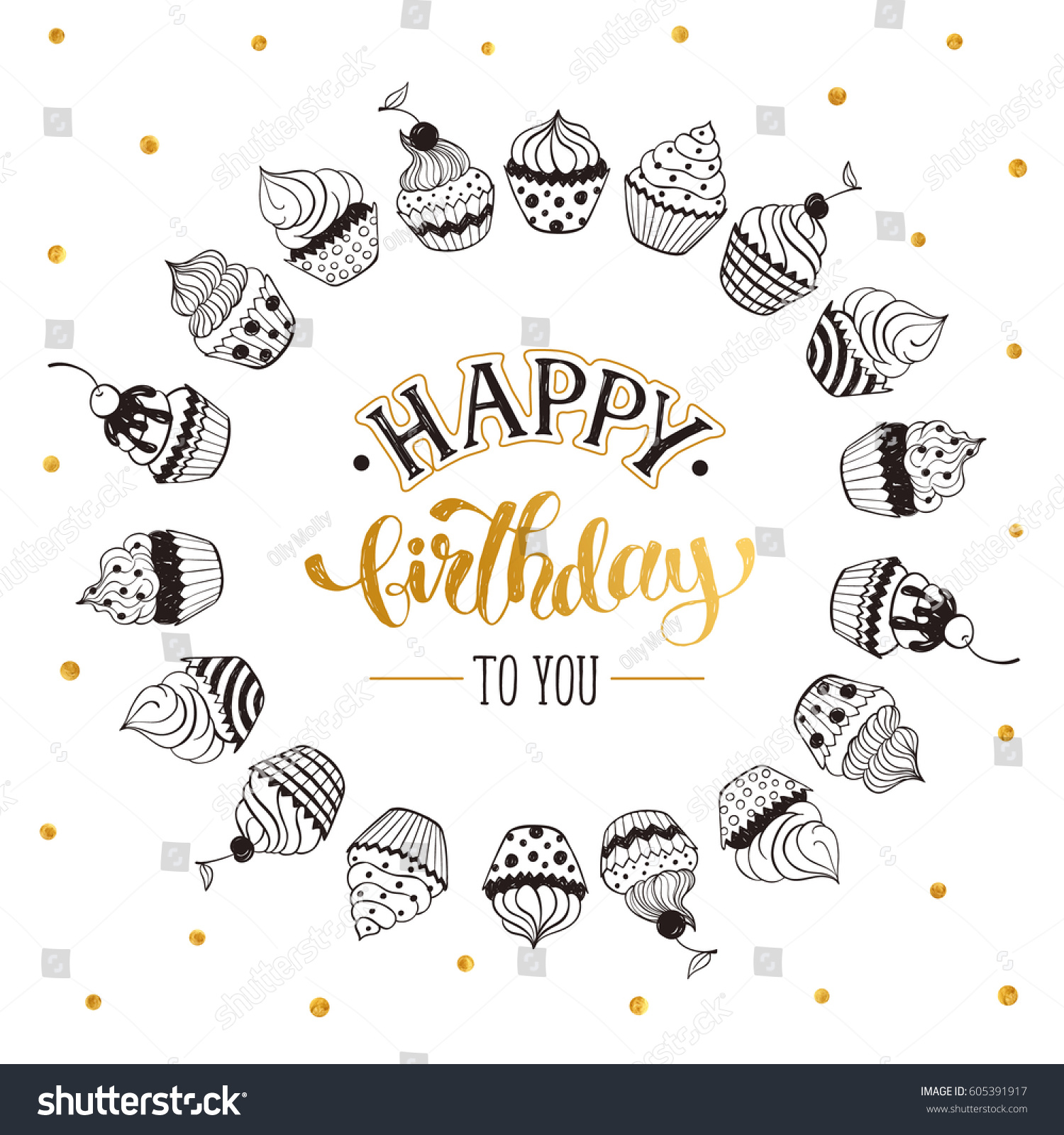 Happy Birthday Greeting Card On White Stock Vector Royalty Free