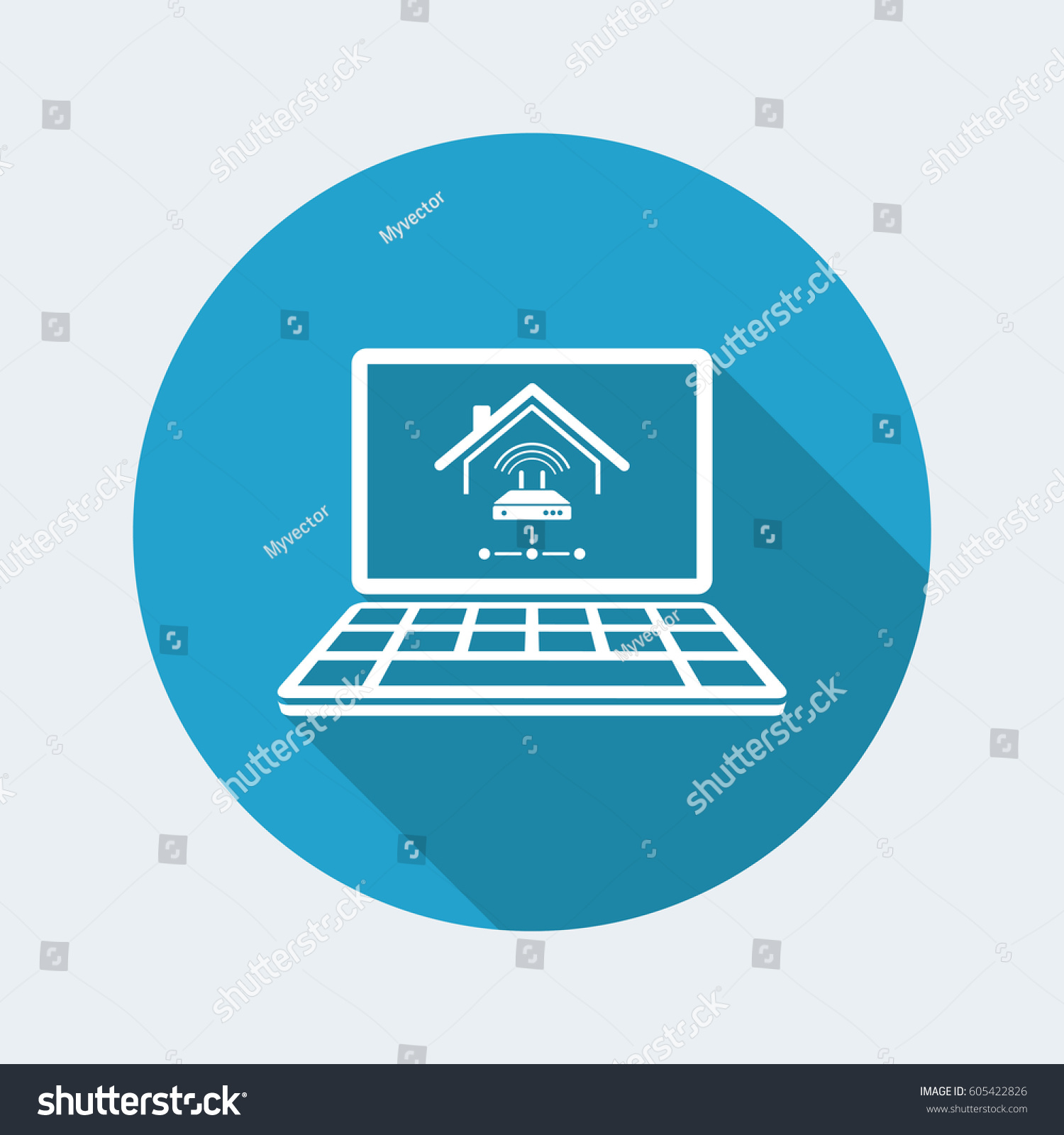 Home Network Modem Vector Icon Computer Stock Vector (Royalty Free ...