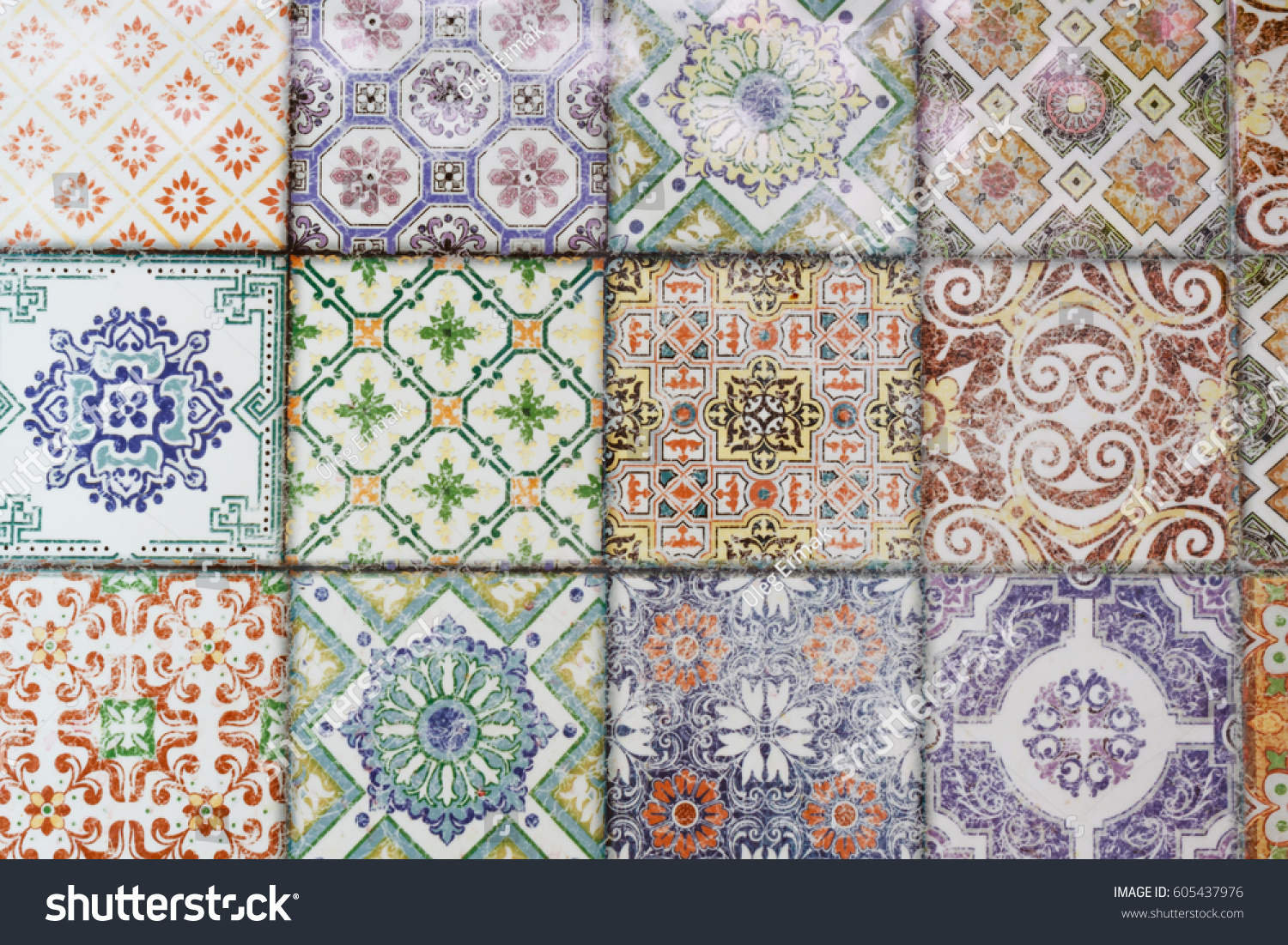Seamless ceramic tiles wall floor decoration stock photo 605437976 seamless ceramic tiles wall and floor decoration patterns can be used for wallpaper pattern dailygadgetfo Images