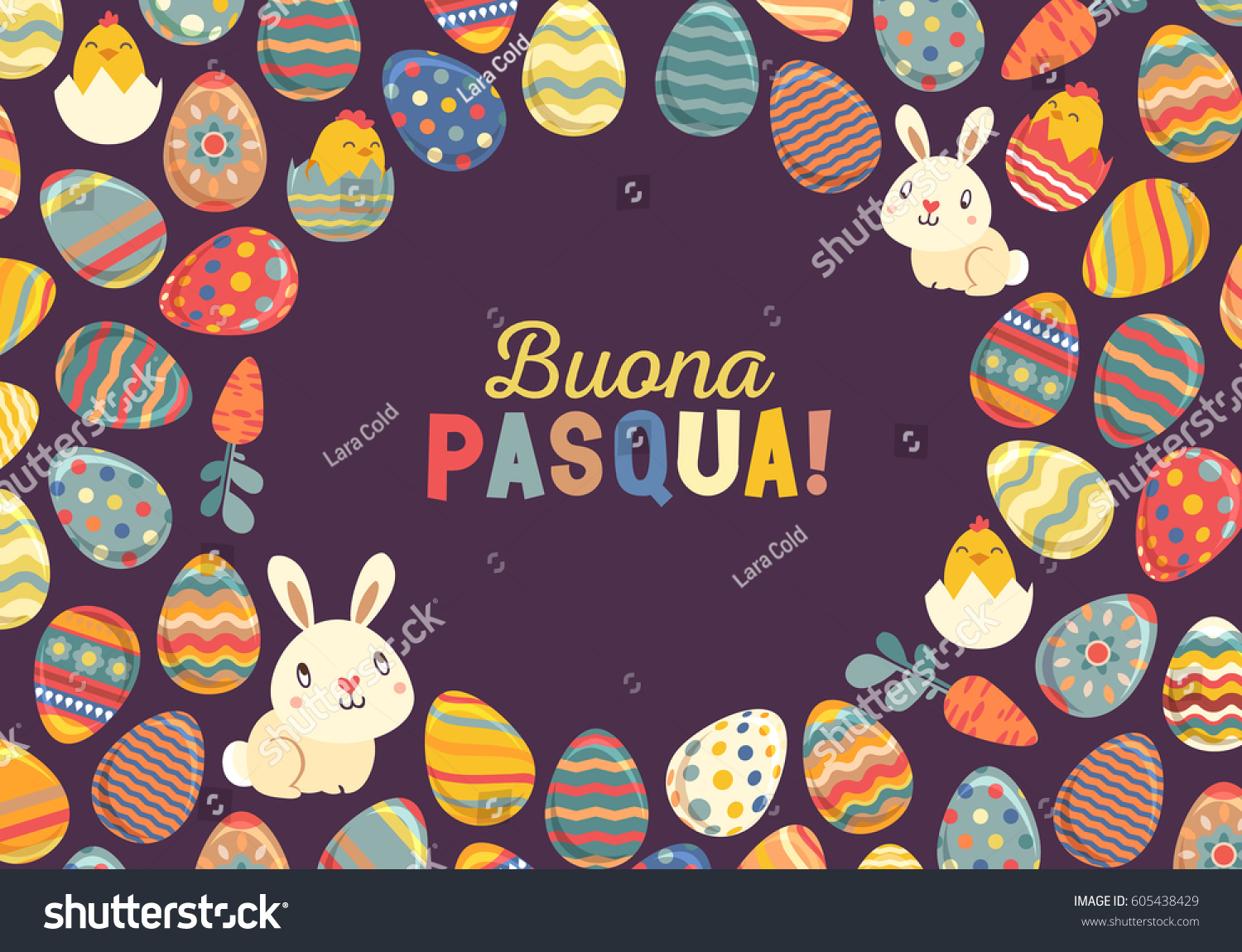 Happy Easter Bright Design Card Easter Stock Vector Royalty Free
