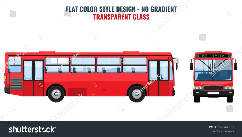 city public bus advertisement template front のベクター画像素材