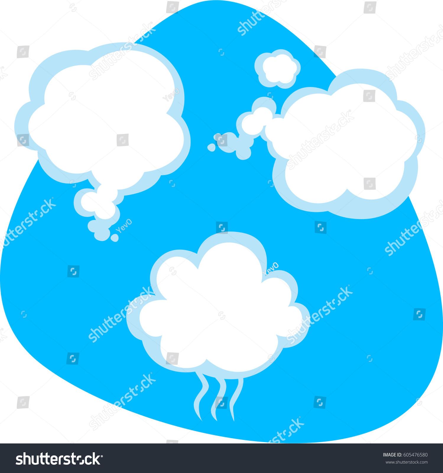 Clean Air Breath Steam Flow Fresh Stock Vector (Royalty Free