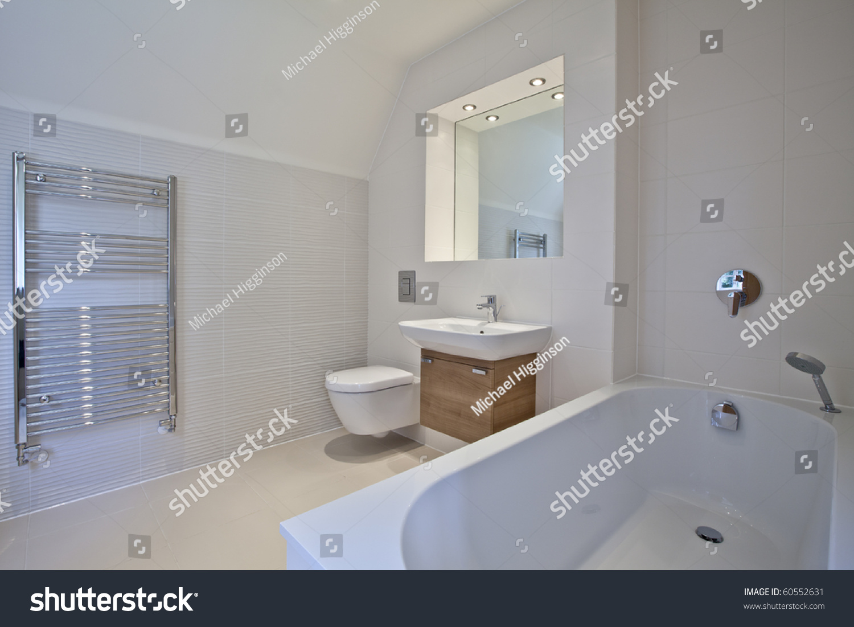 Luxury Contemporary Bathroom Suite Stock Photo 60552631 Shutterstock
