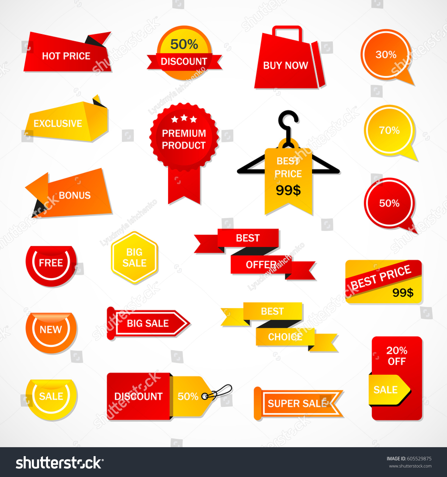 vector stickers price tag banner label stock vector 605529875