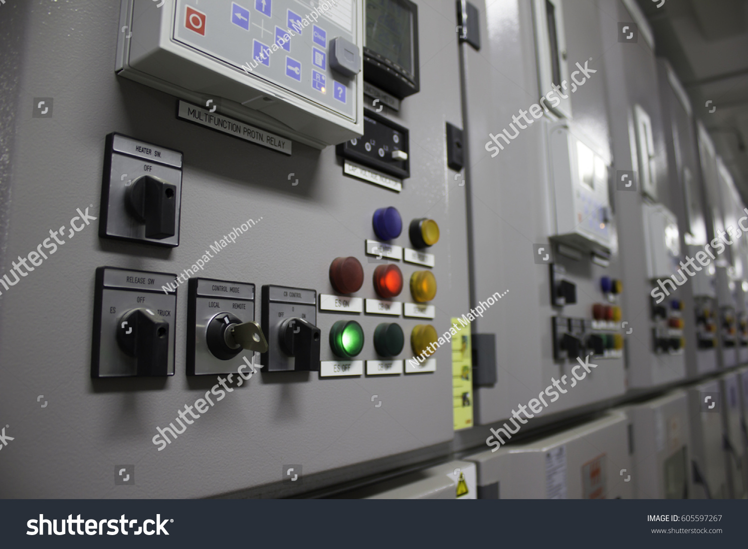 Selector Onoff Breaker Release Switch Earth Stock Photo Edit Now Relay For On Off And Rack In