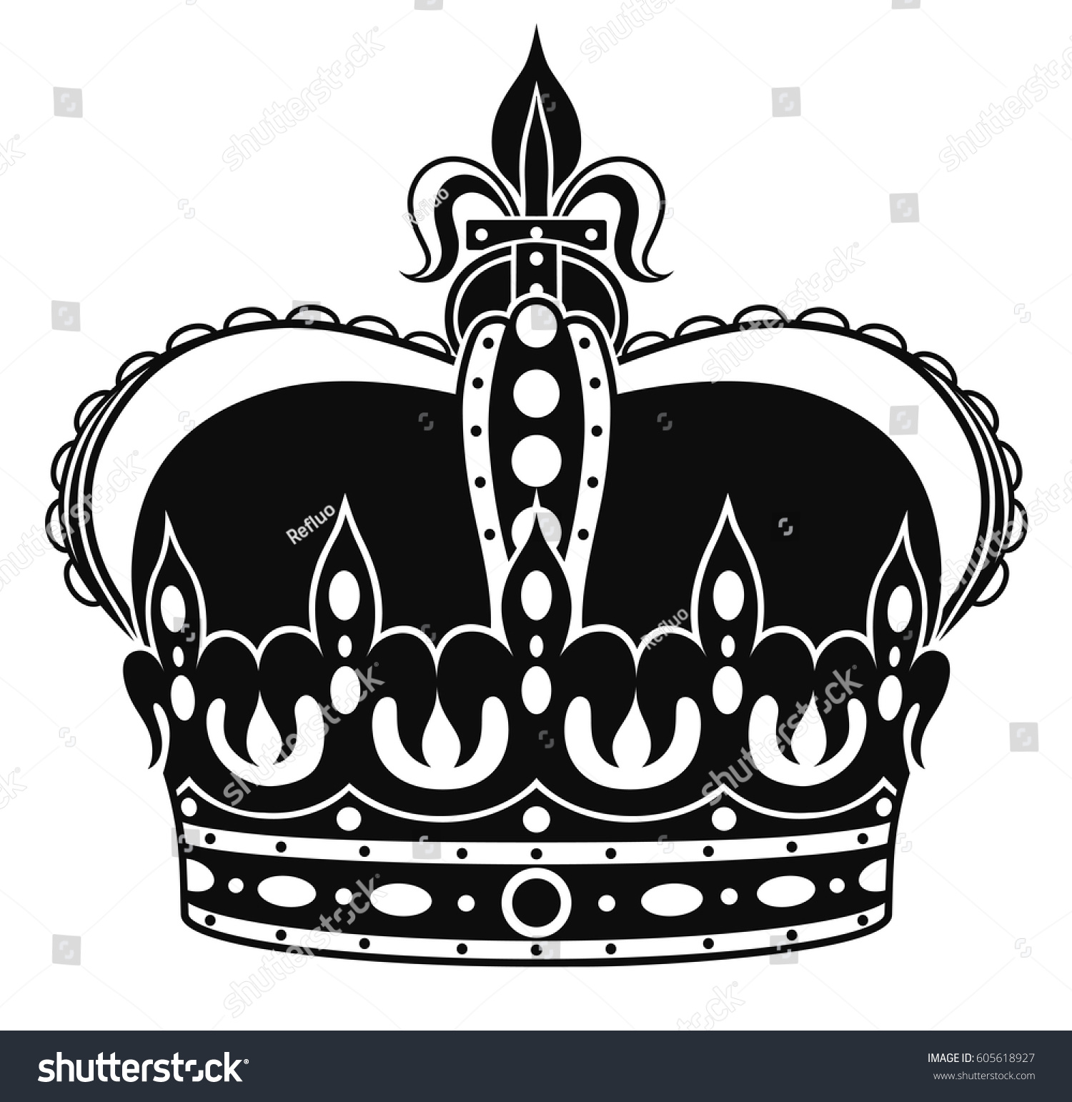 new product 75488 062f5 king crown black and white