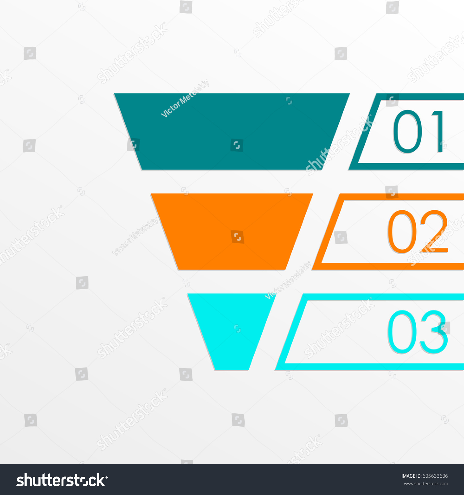 funnel symbol marketing sales chart business stock vector royalty