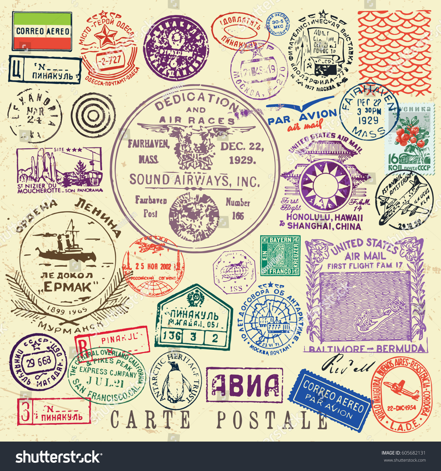 Vector document stamp set great vintage stock vector for Uncontrolled document stamp