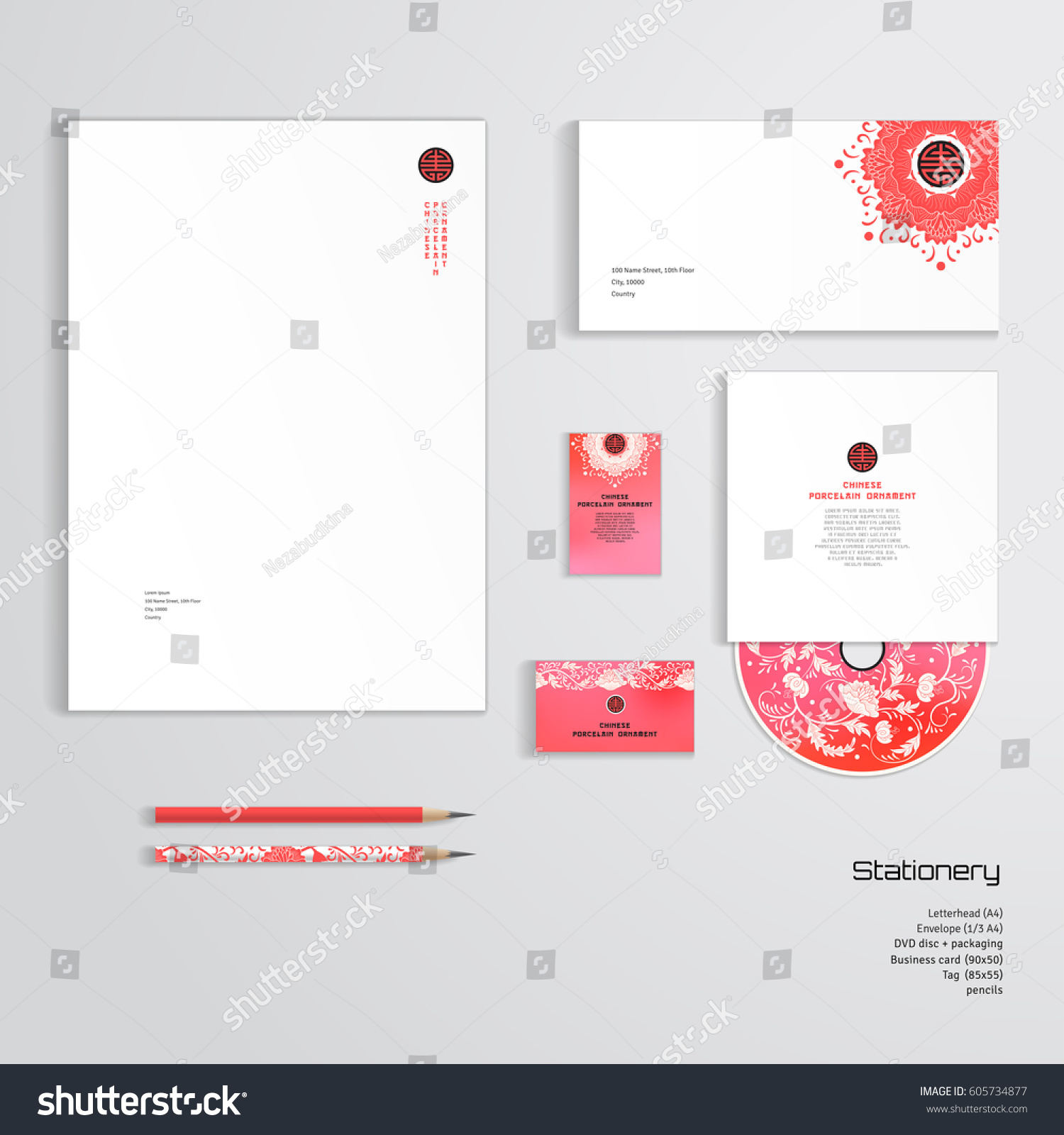 Vector identity templates letterhead envelope business stock vector vector identity templates letterhead envelope business card tag disc with packaging cheaphphosting Image collections