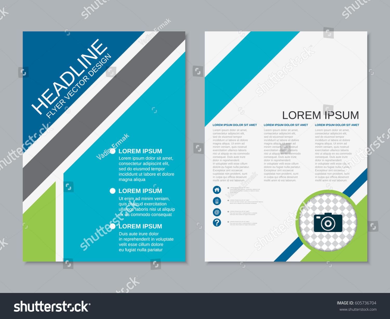 Modern business flyer vector design template stock vector for Flyer vector