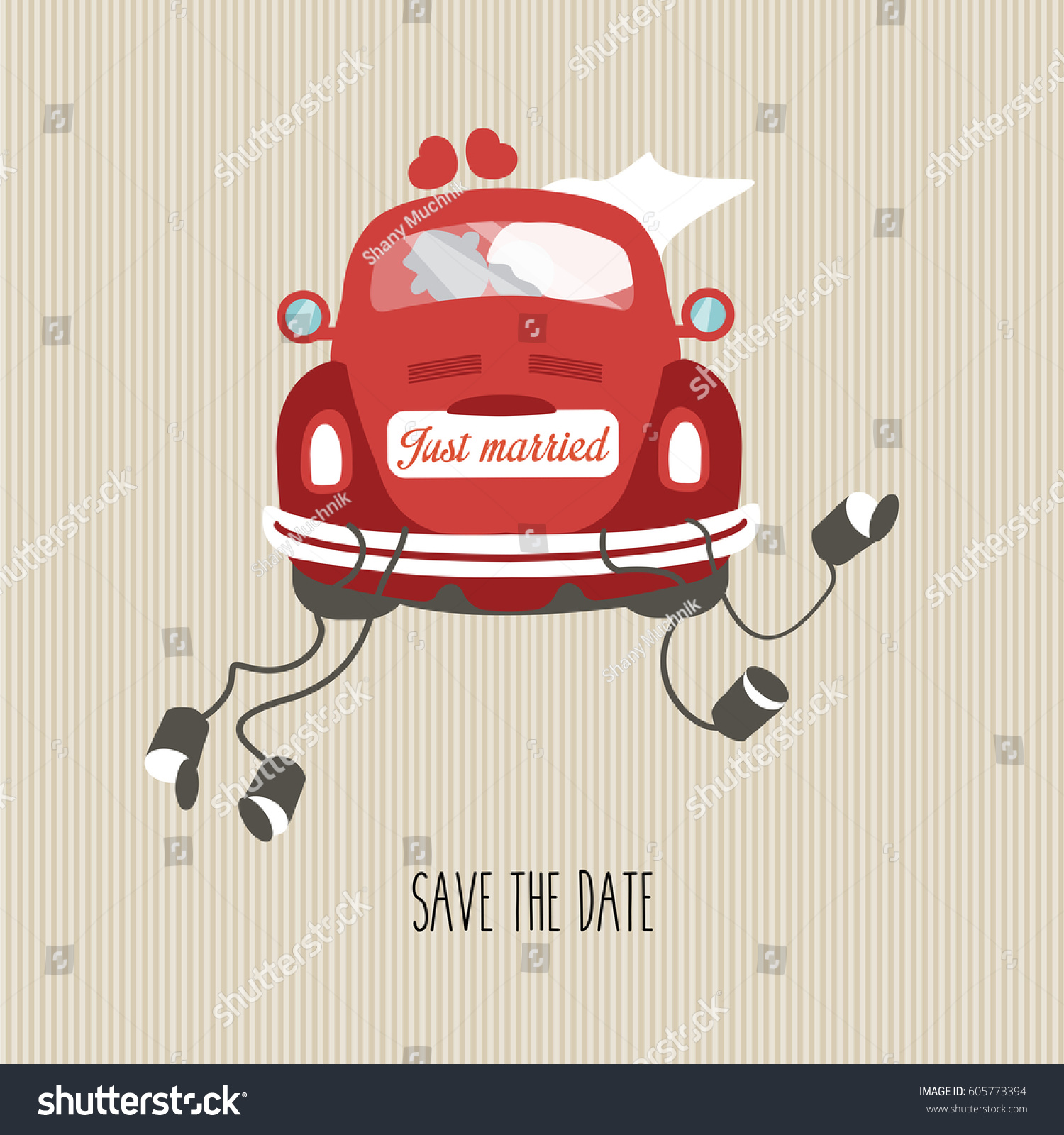 Beautiful Wedding Invitation Greeting Card Bride Stock Vector ...