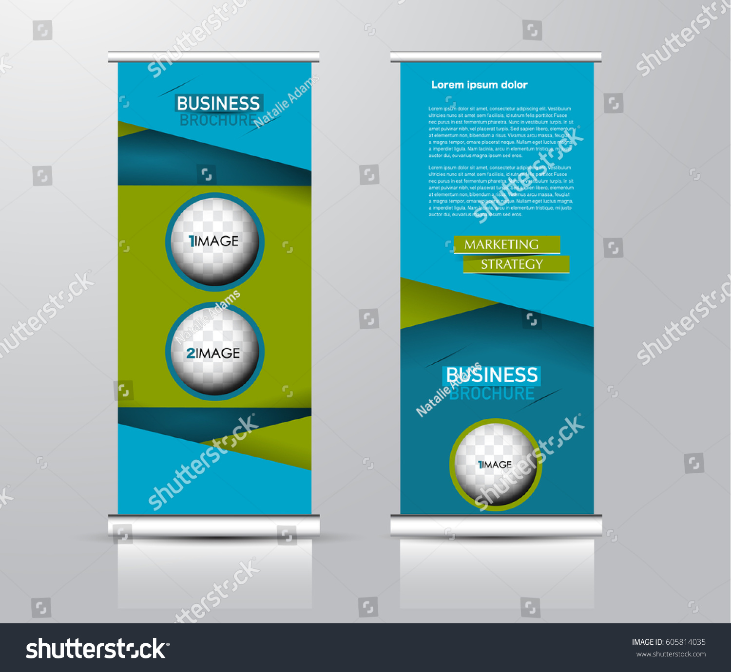 Roll Vertical Banner Template Stand Panel Stock Vector 605814035 ...
