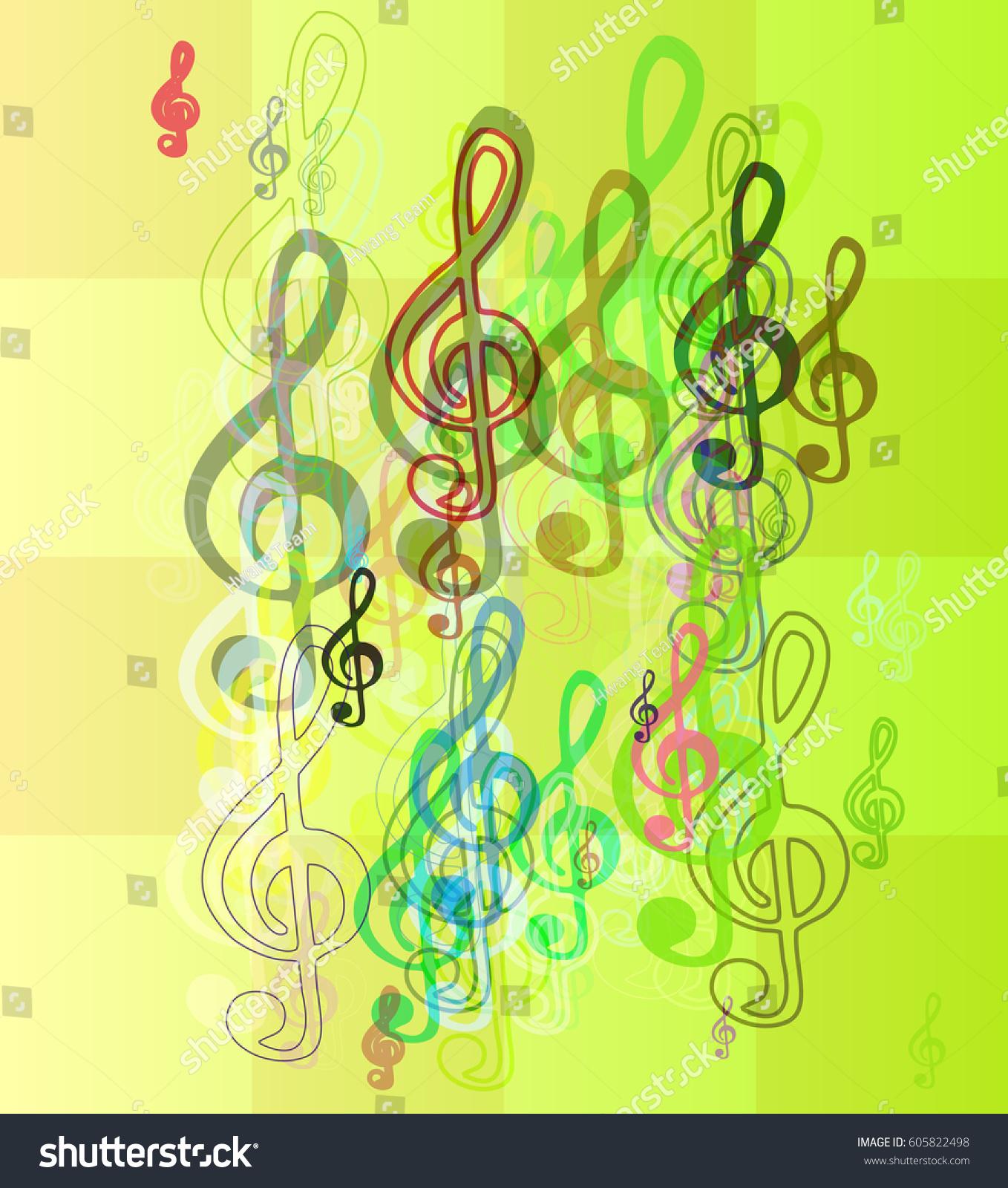 Musical Note Art Template Stock Vector 605822498 - Shutterstock