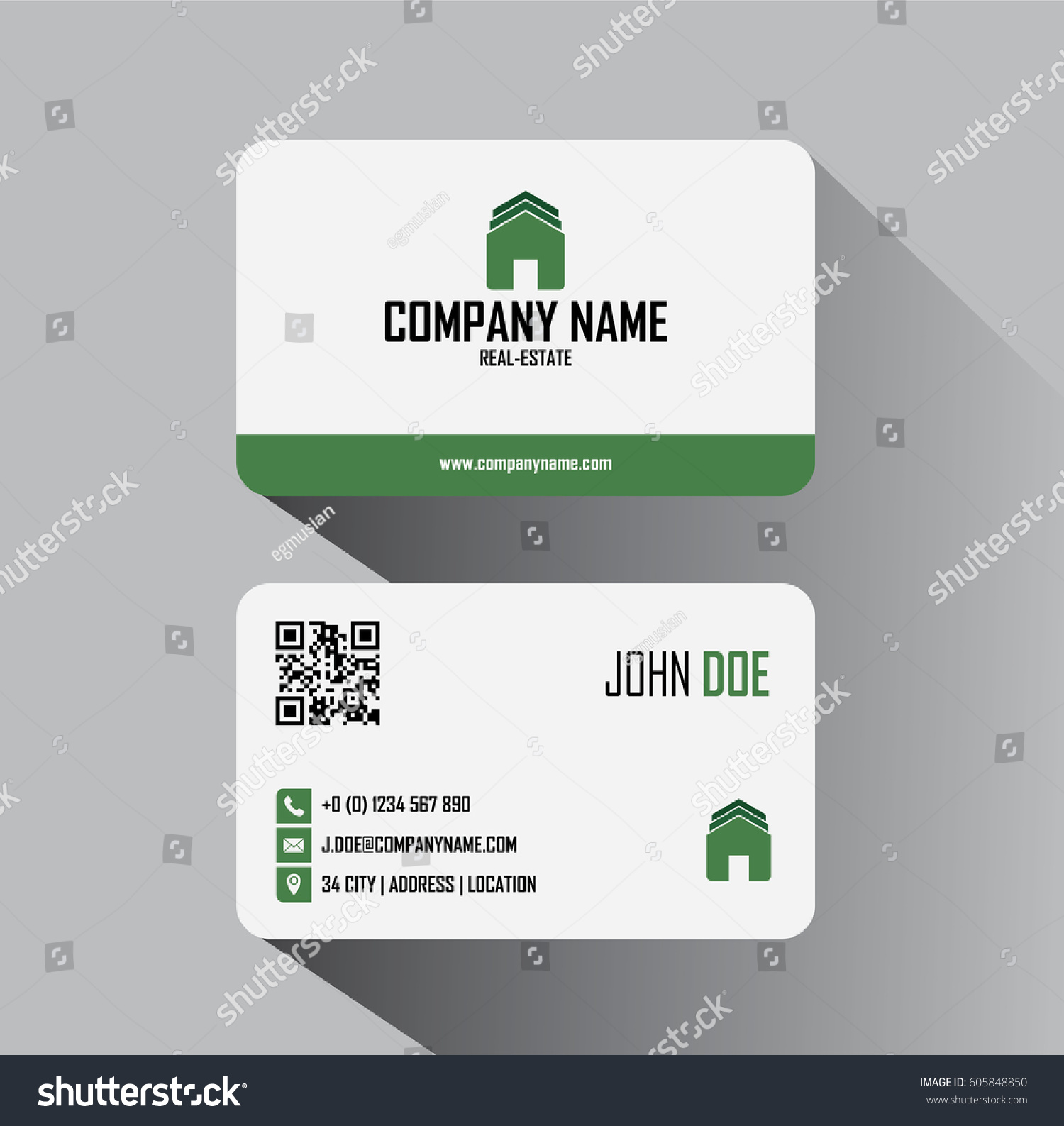 real estate business cards vector template stock vector