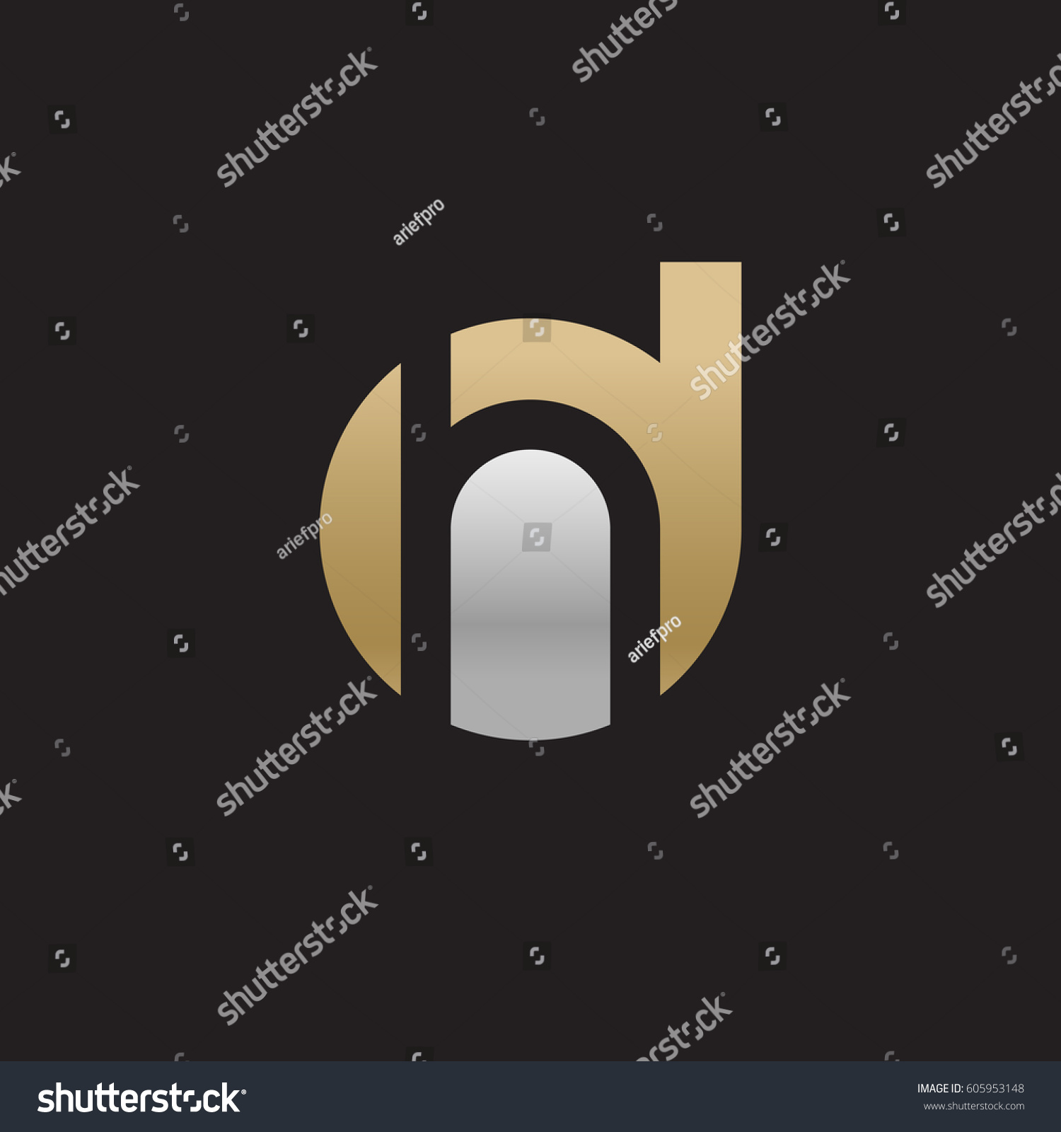 initial logo dh hd h inside stock photo (photo, vector, illustration