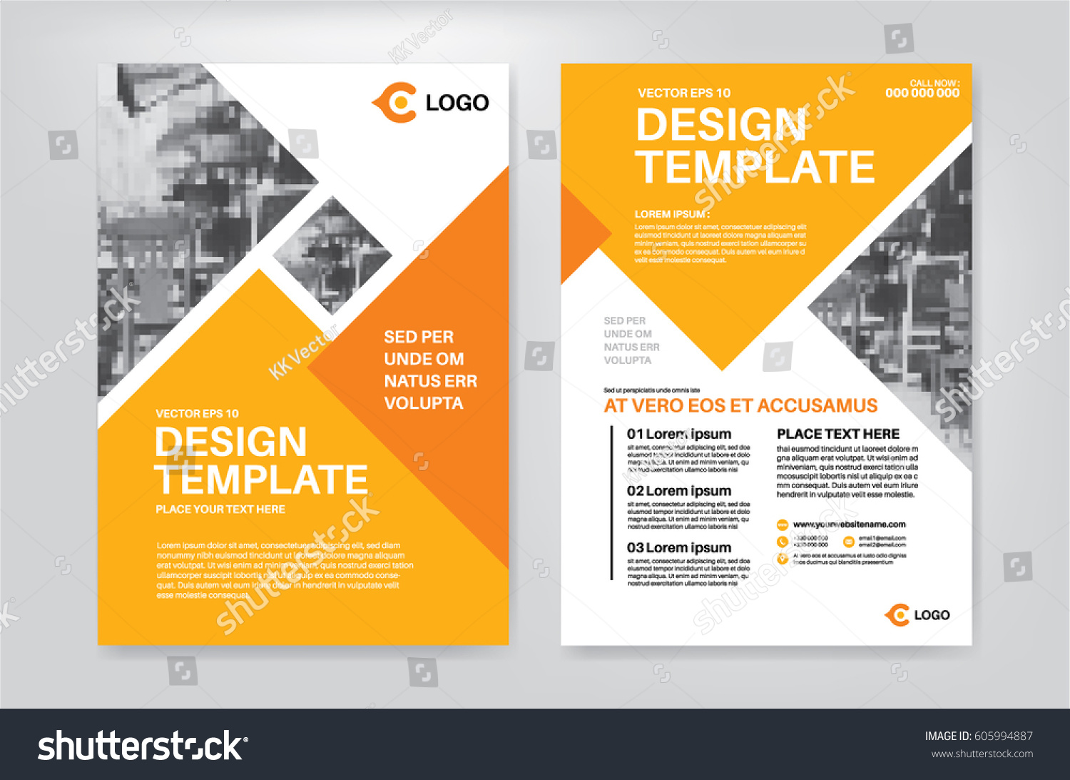 Vector Layout Design Template Leaflet Poster Stock Vector (Royalty ...