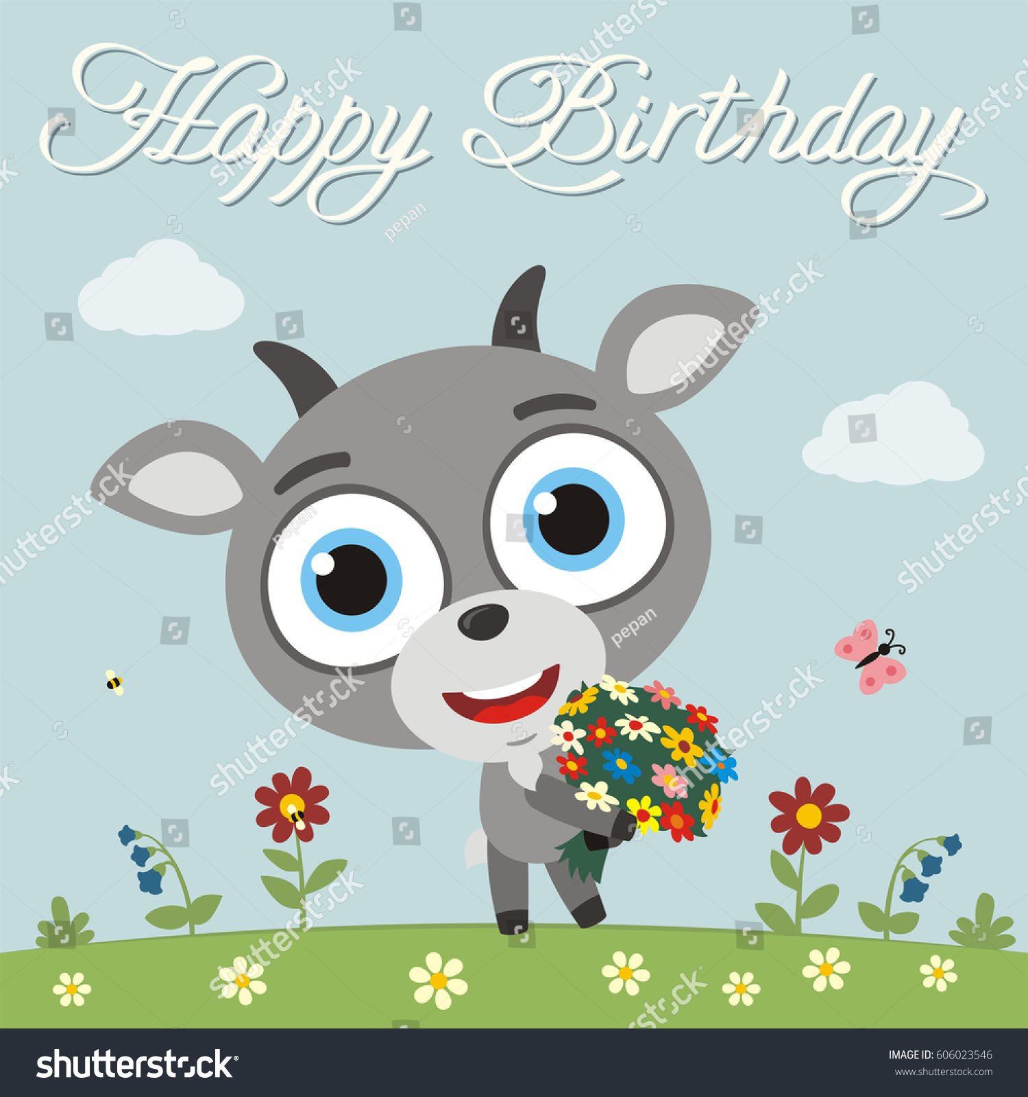 Happy birthday to you funny mouse with flowers greeting card ez happy birthday to you funny mouse with flowers greeting card ez canvas izmirmasajfo