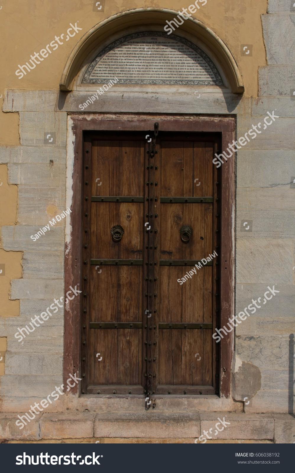 ID: 606038192 - Antique Wooden Door Frame From Jaipur City EZ Canvas