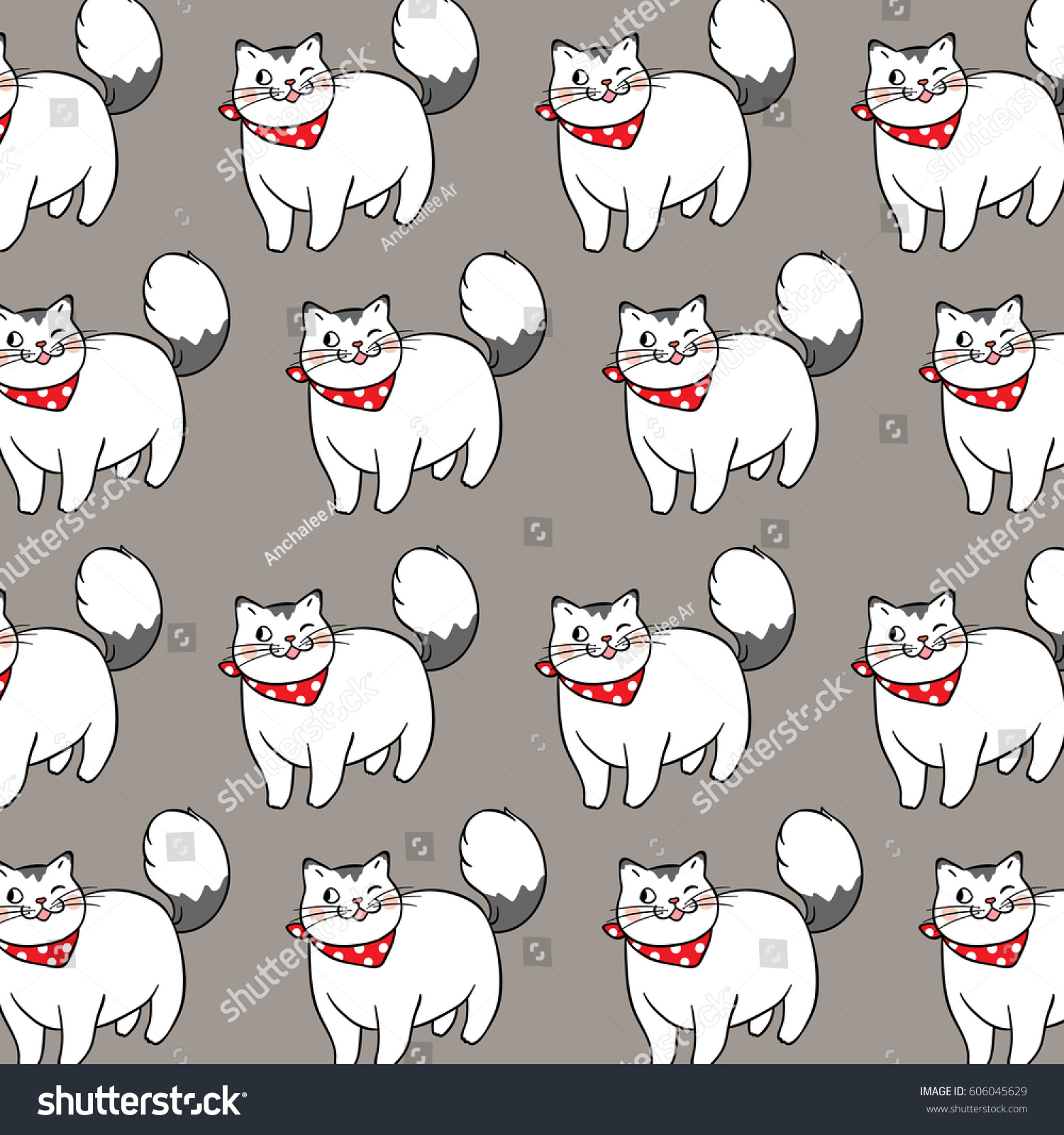 Amazing Wolfbear Chubby Adorable Dog - stock-vector-vector-pattern-background-design-of-cute-fat-cat-on-gray-color-doodle-style-606045629  Best Photo Reference_177950  .jpg