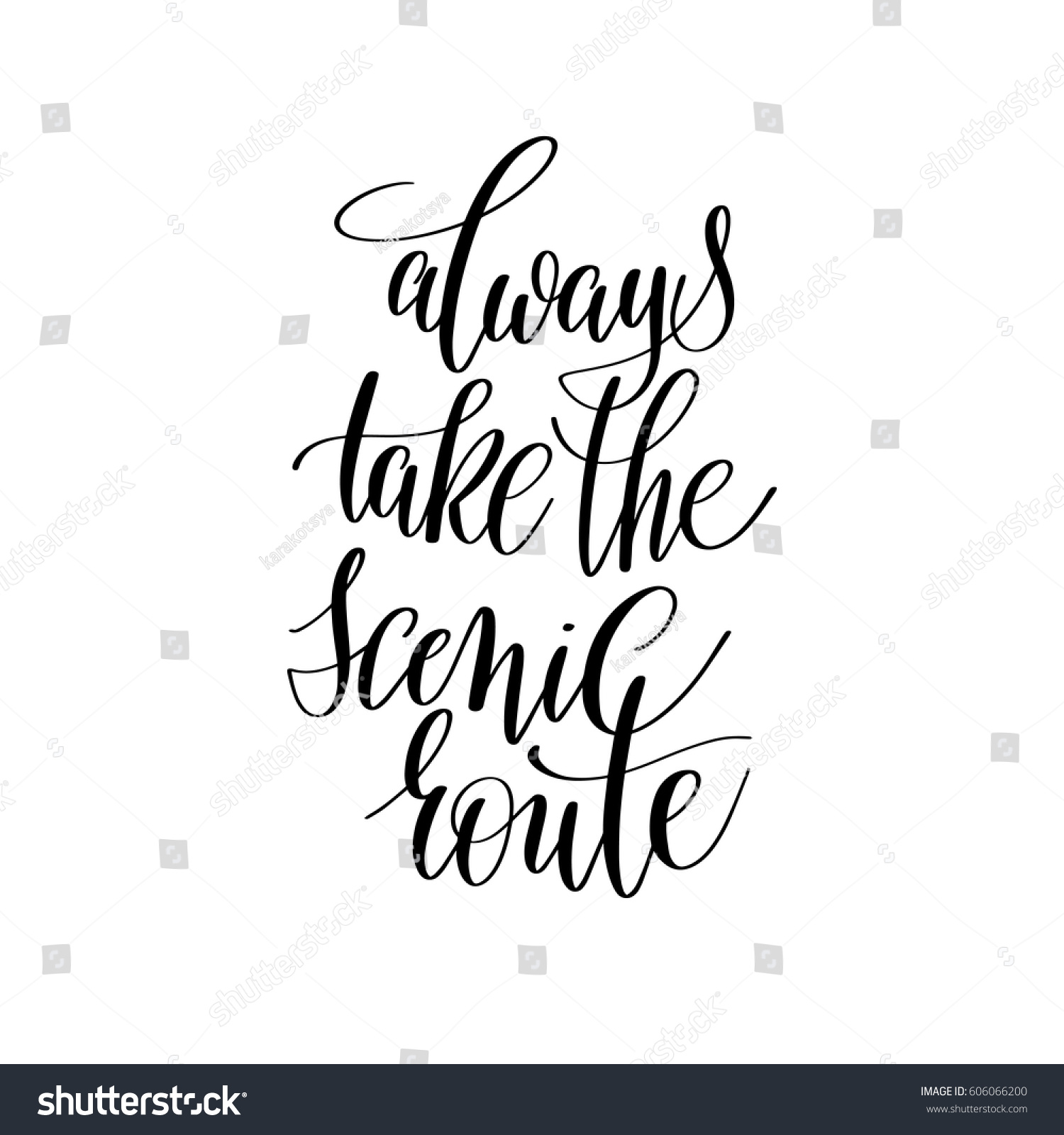 Scenic quotes daily inspirational quotations and sayings on - Always Take The Scenic Route Inspirational Quote About Summer Travel Positive Journey Phrase To Poster