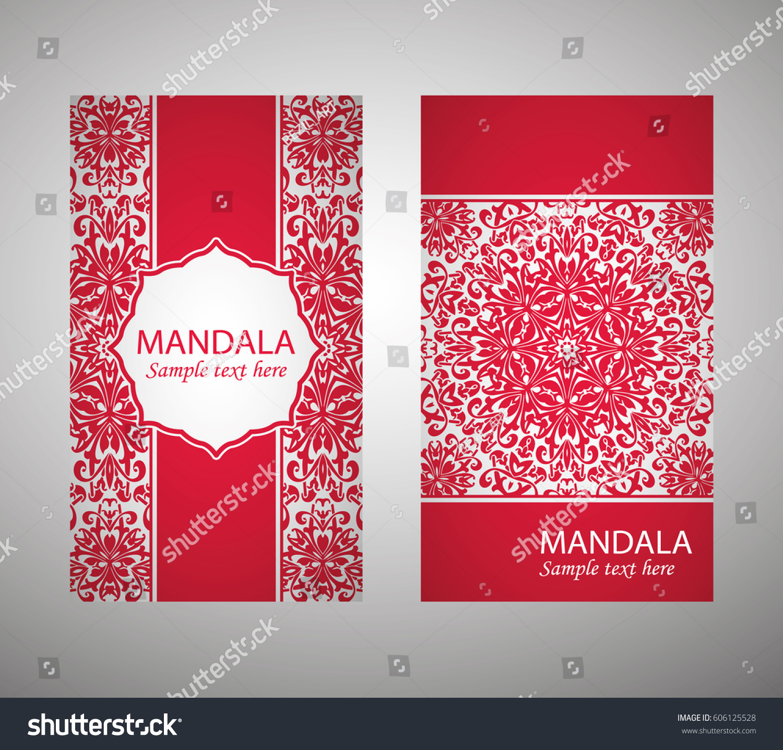flyer, flyer, cover, pattern mandala. Oriental motif. Hand painted ...