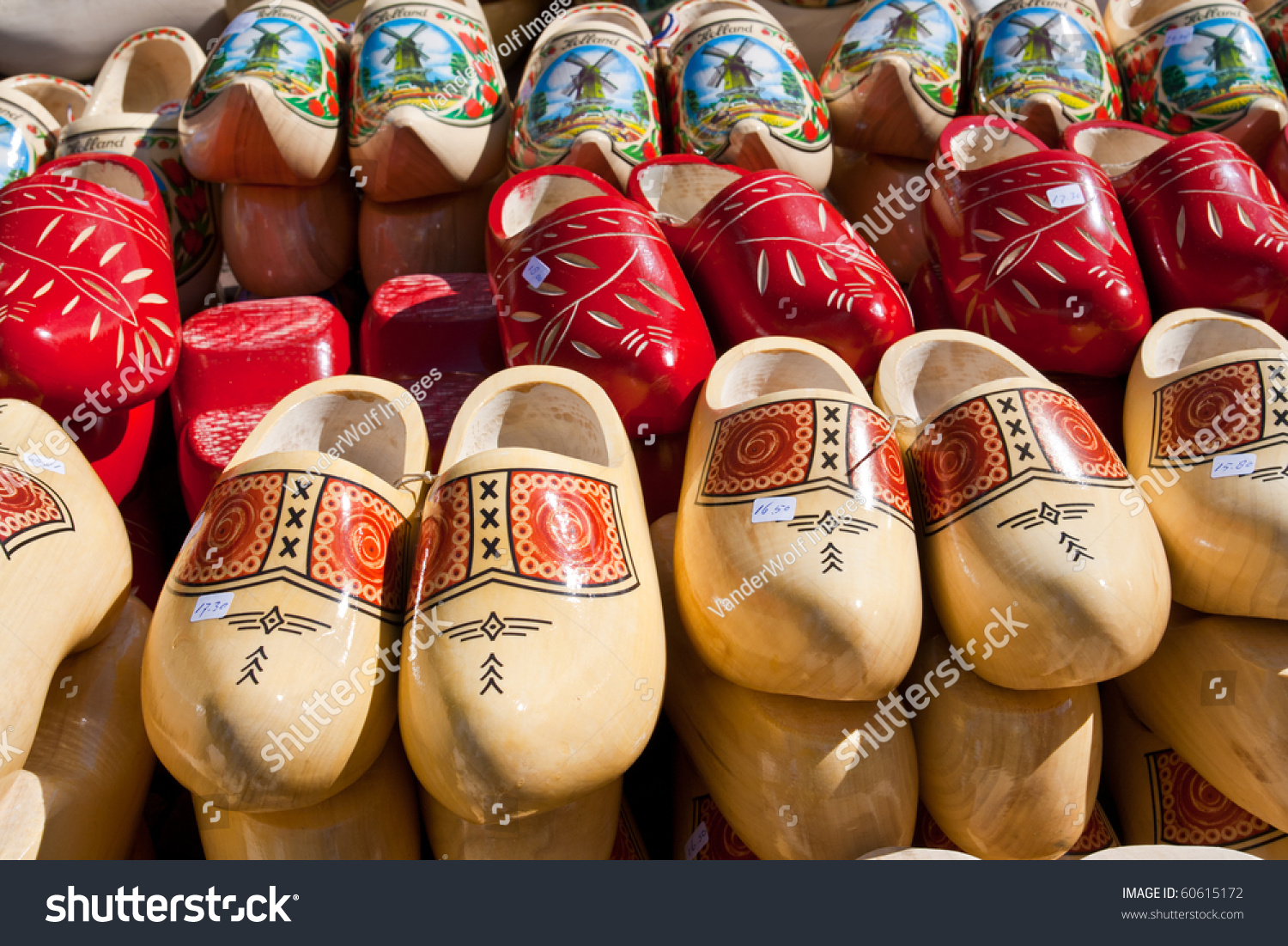famous traditional dutch wooden clogs stock photo 60615172