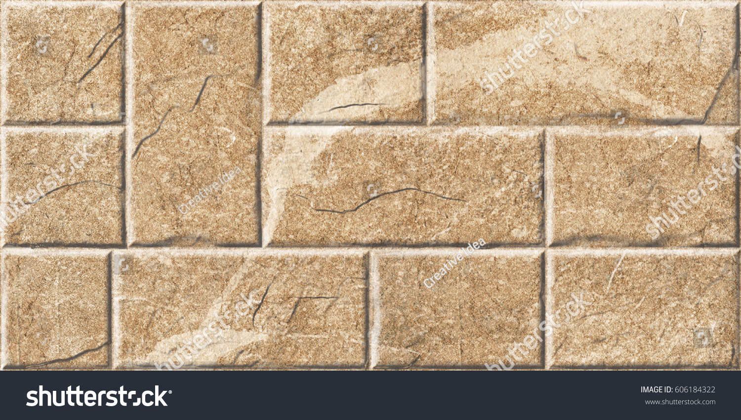 Abstract Home Decorative Wall Elevation Tiles Stock Illustration ...