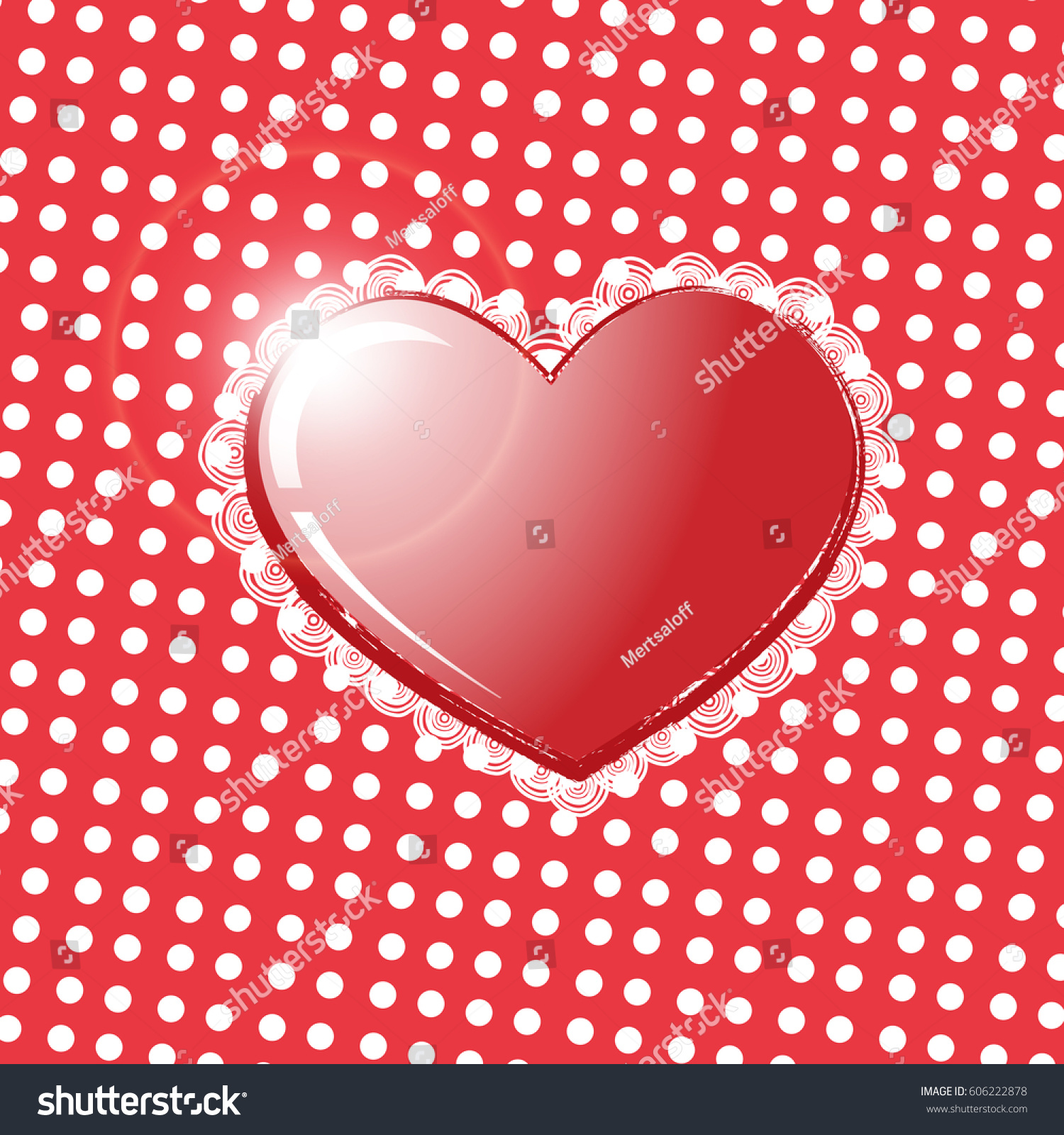 Big Red Heart Isolated On Transparent Stock Vector 606222878 ...