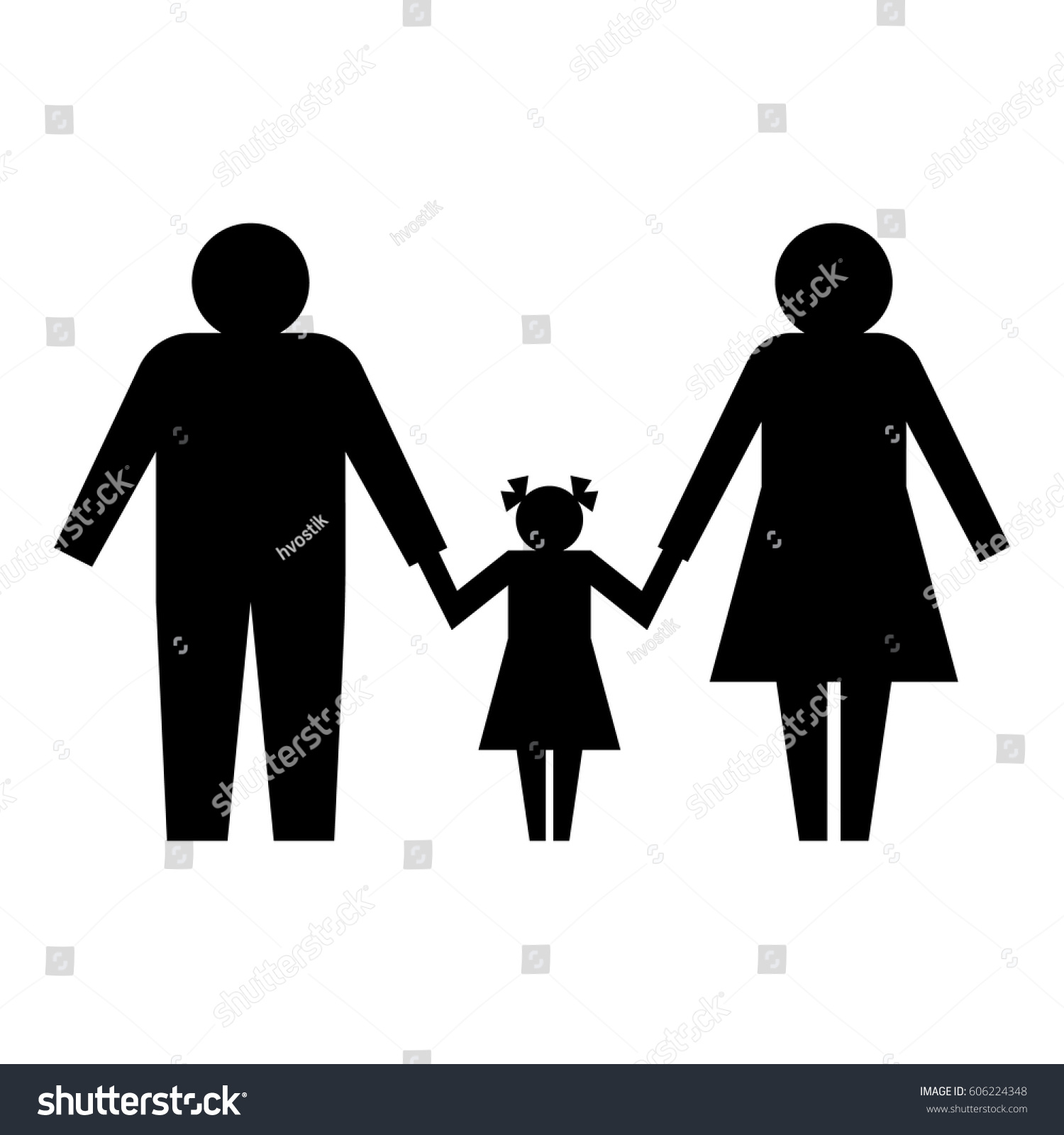 Family icon black silhouette isolated on stock vector 606224348 family icon black silhouette isolated on white background parents with a child symbol buycottarizona