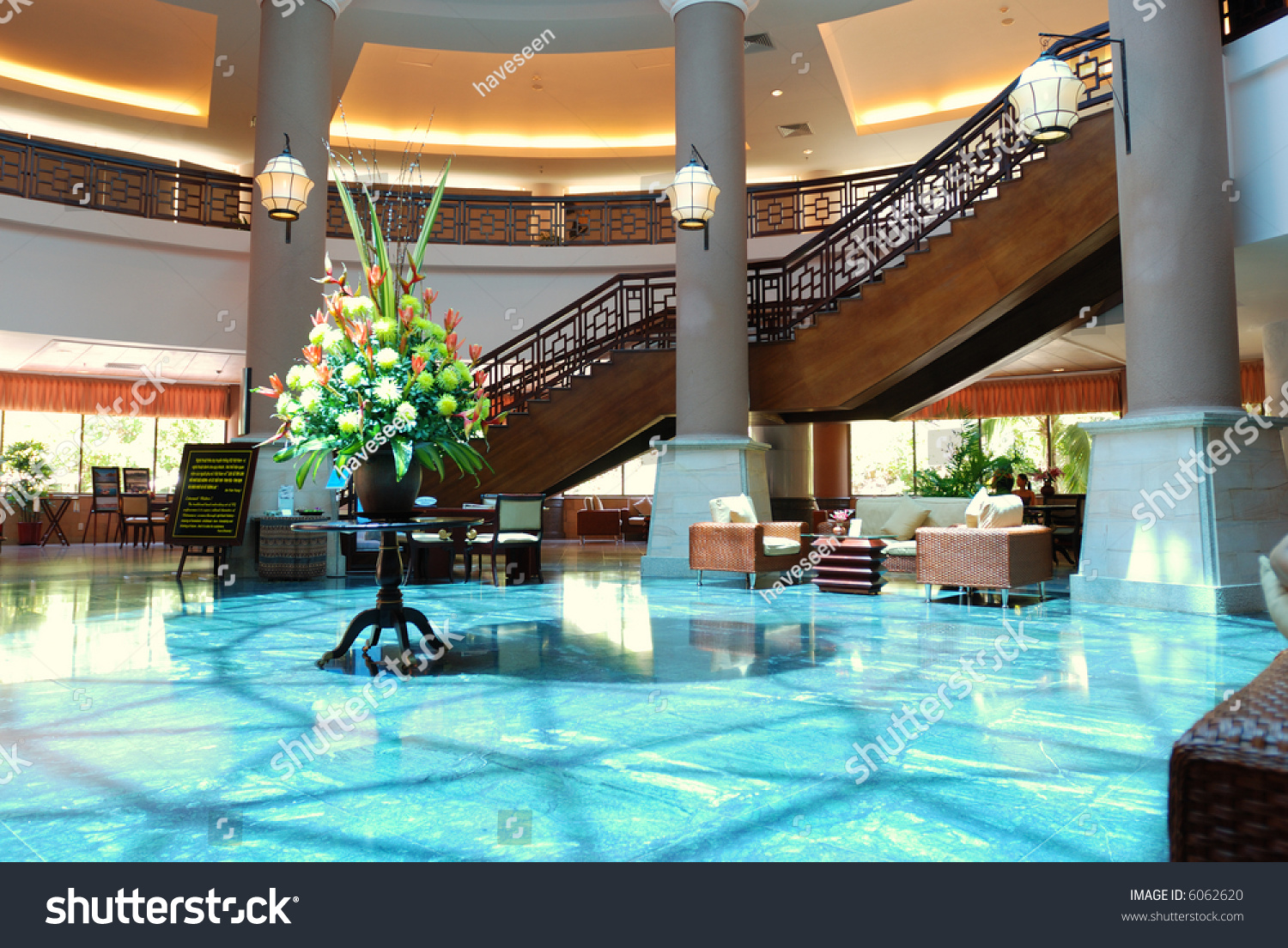 Luxury hotel lobby room interior stock photo 6062620 for Luxury hotel finder