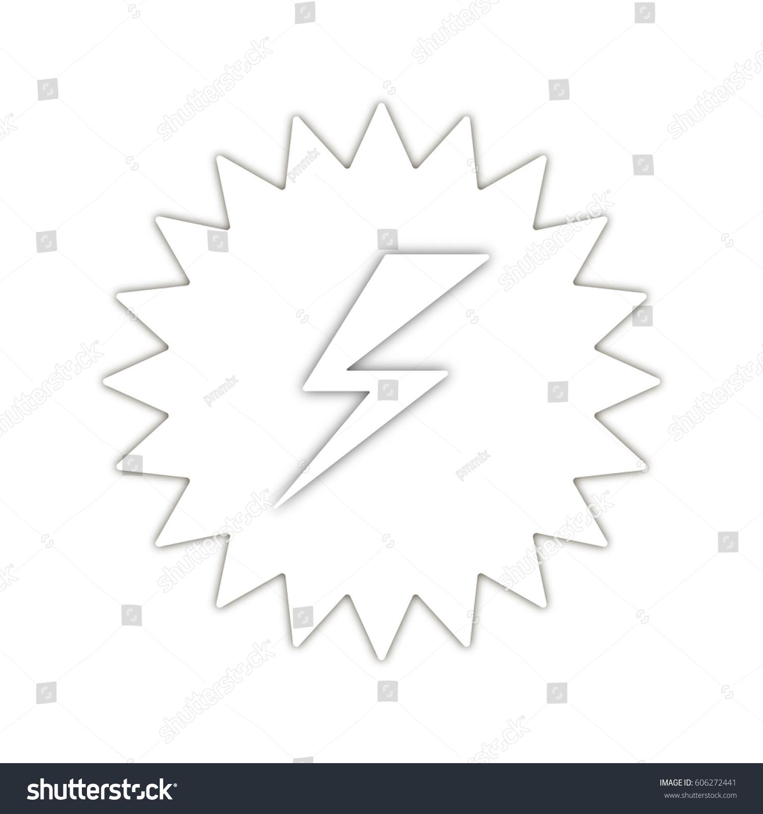 Danger Symbol Banner High Voltage Lightning Stock Vector 606272441 ...