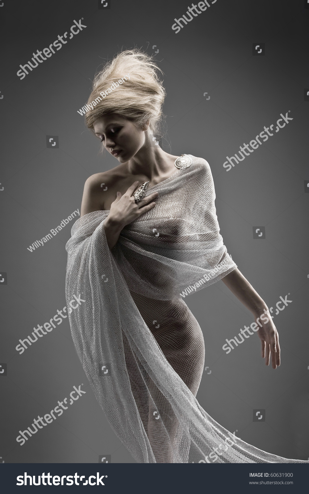Fashion Beautiful Glamour Girl Creative Stylized Stock